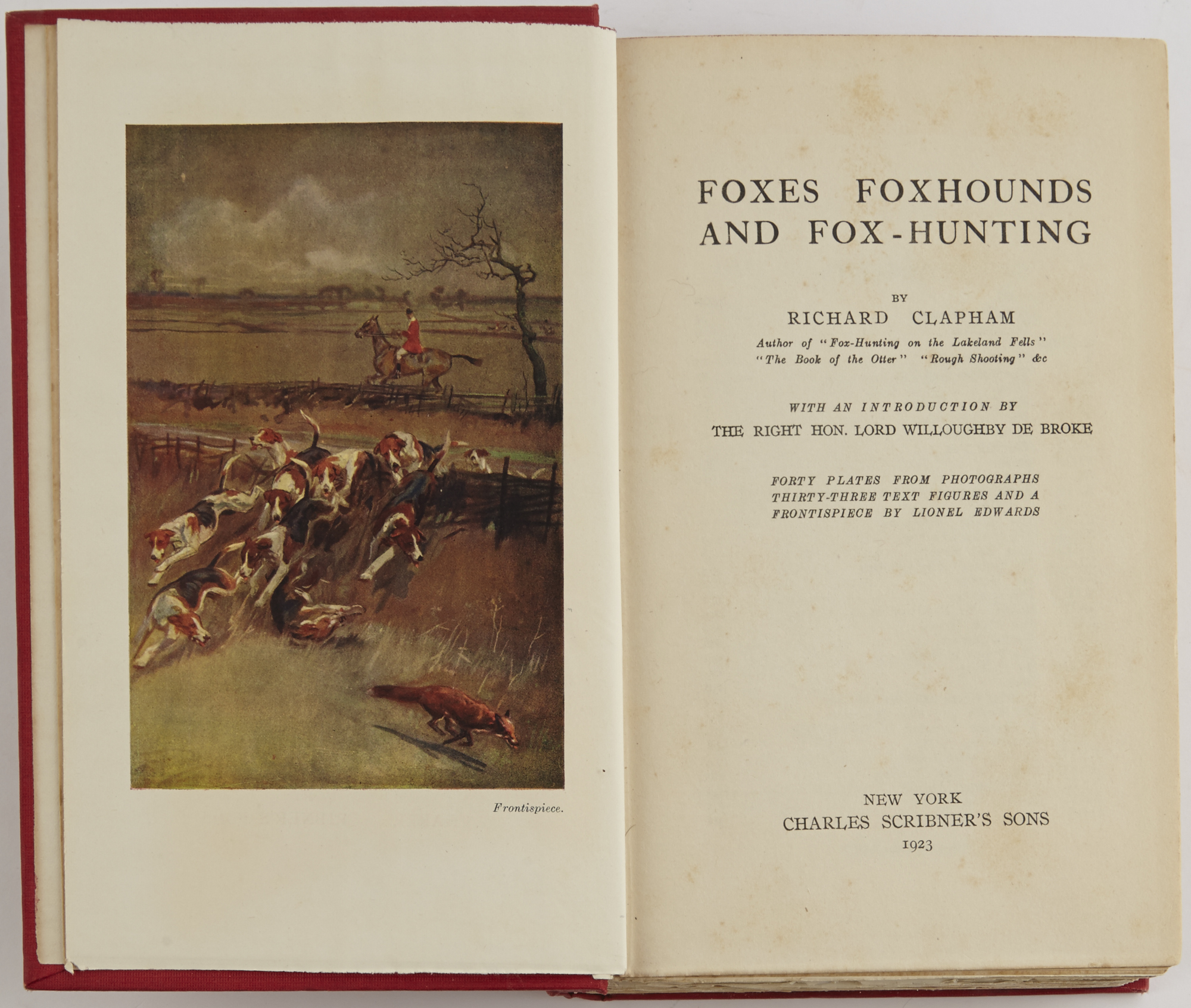 Lot image - CLAPHAM, RICHARD  Foxes Foxhounds and Fox Hunting.