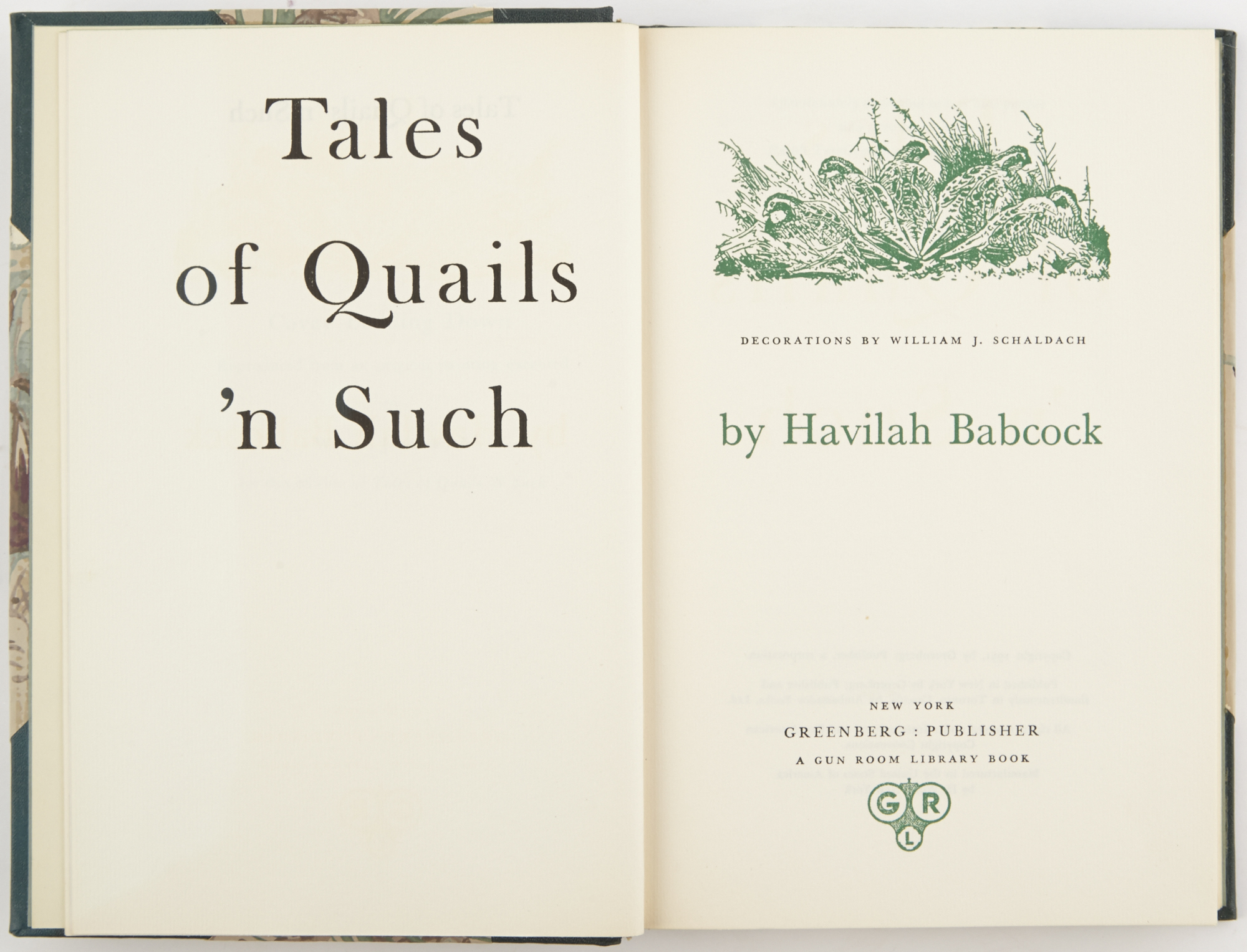 Lot image - BABCOCK, HAVILAH  Tales of Quails n Such.