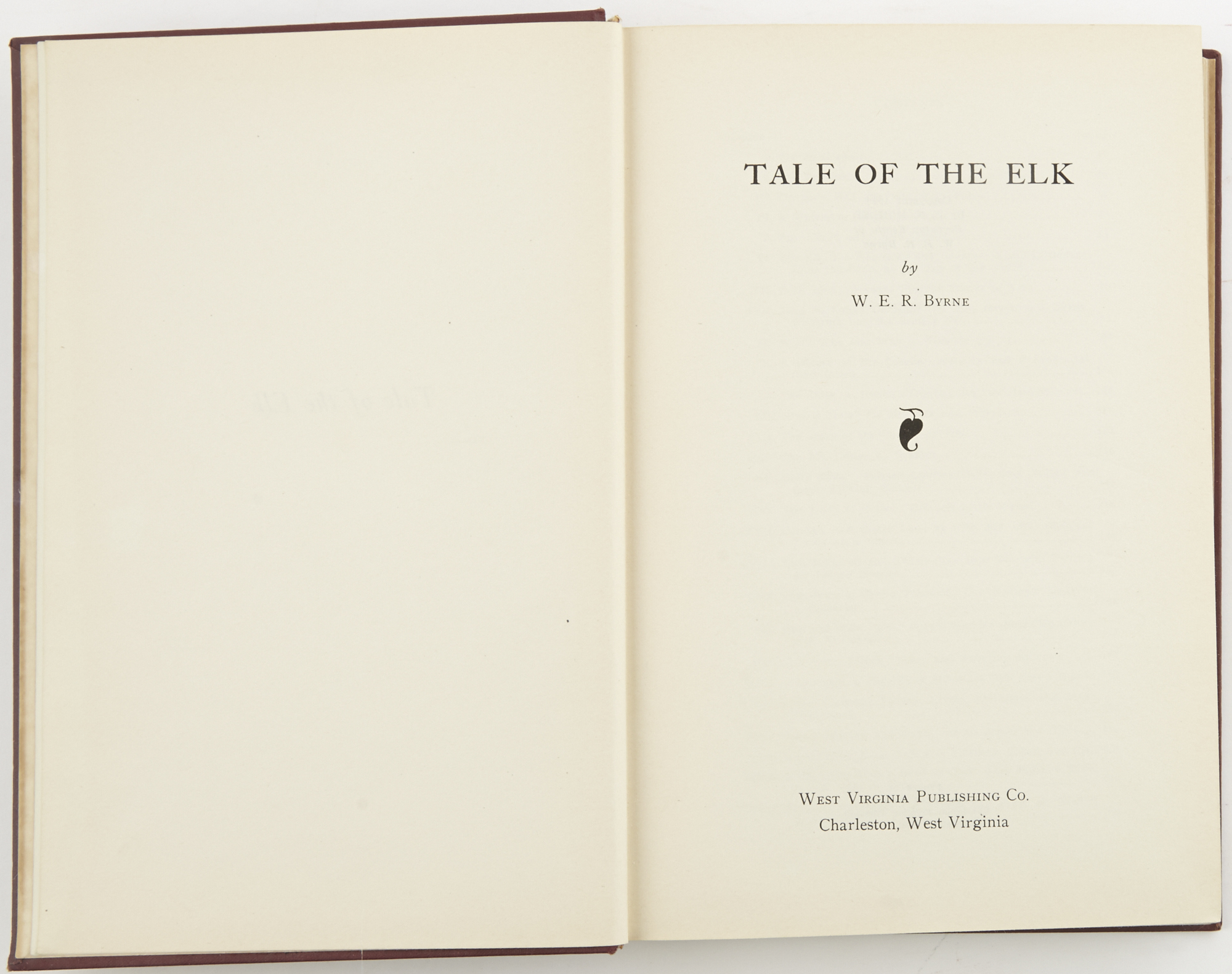 Lot image - BYRNE, W.E.R.  Tale Of The Elk.