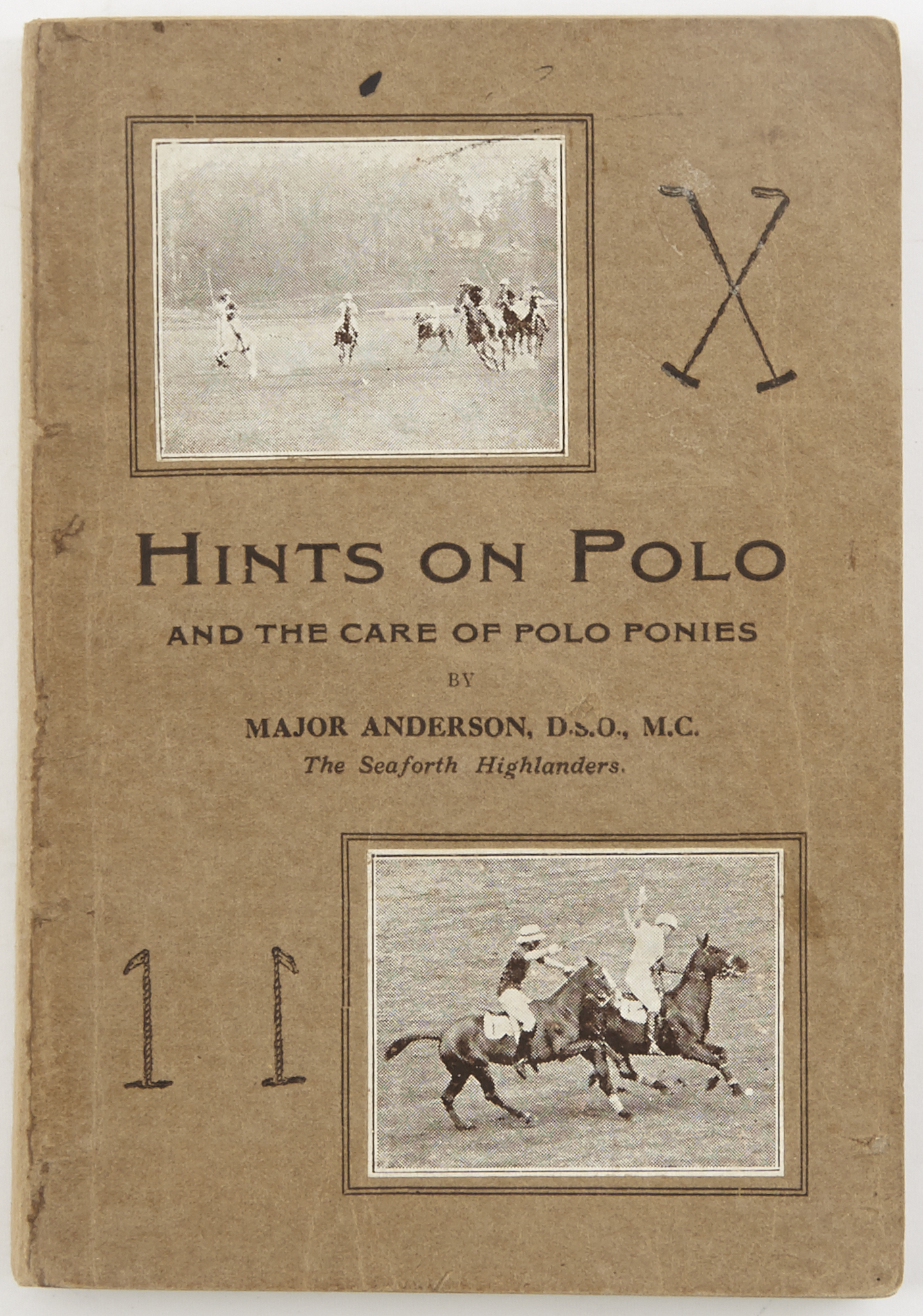 Lot image - ANDERSON, F.  Hints on Polo and the Care of Polo Ponies in India.
