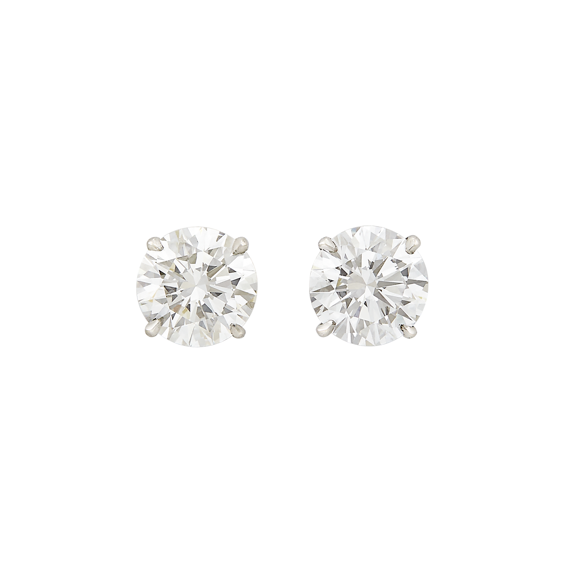 Lot image - Diamond Stud Earrings