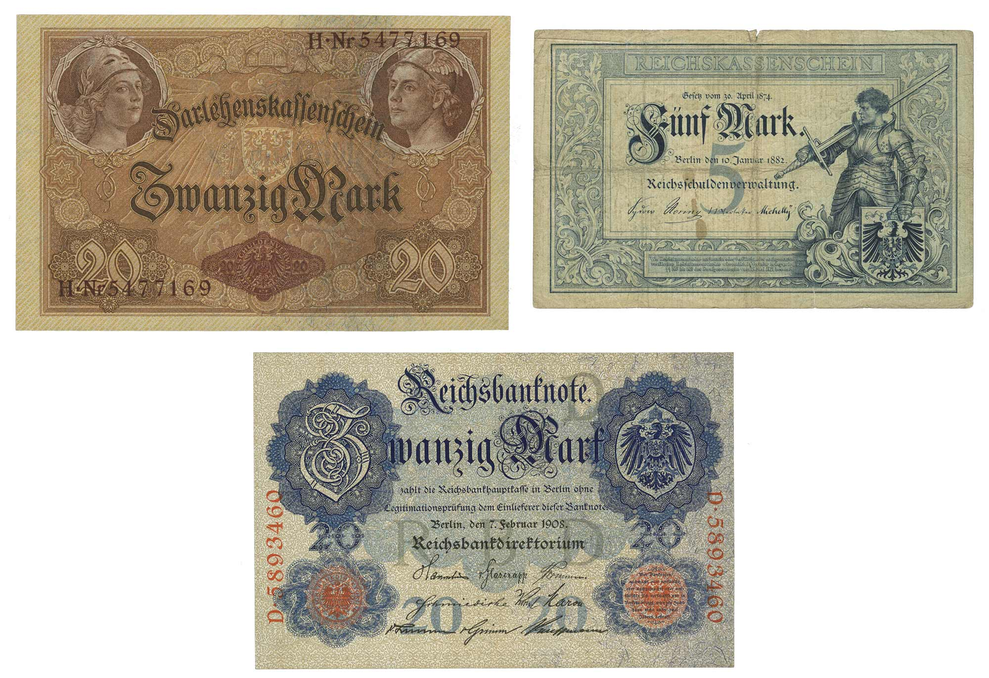 Lot image - German Bank Notes Empire to 1945 Issues