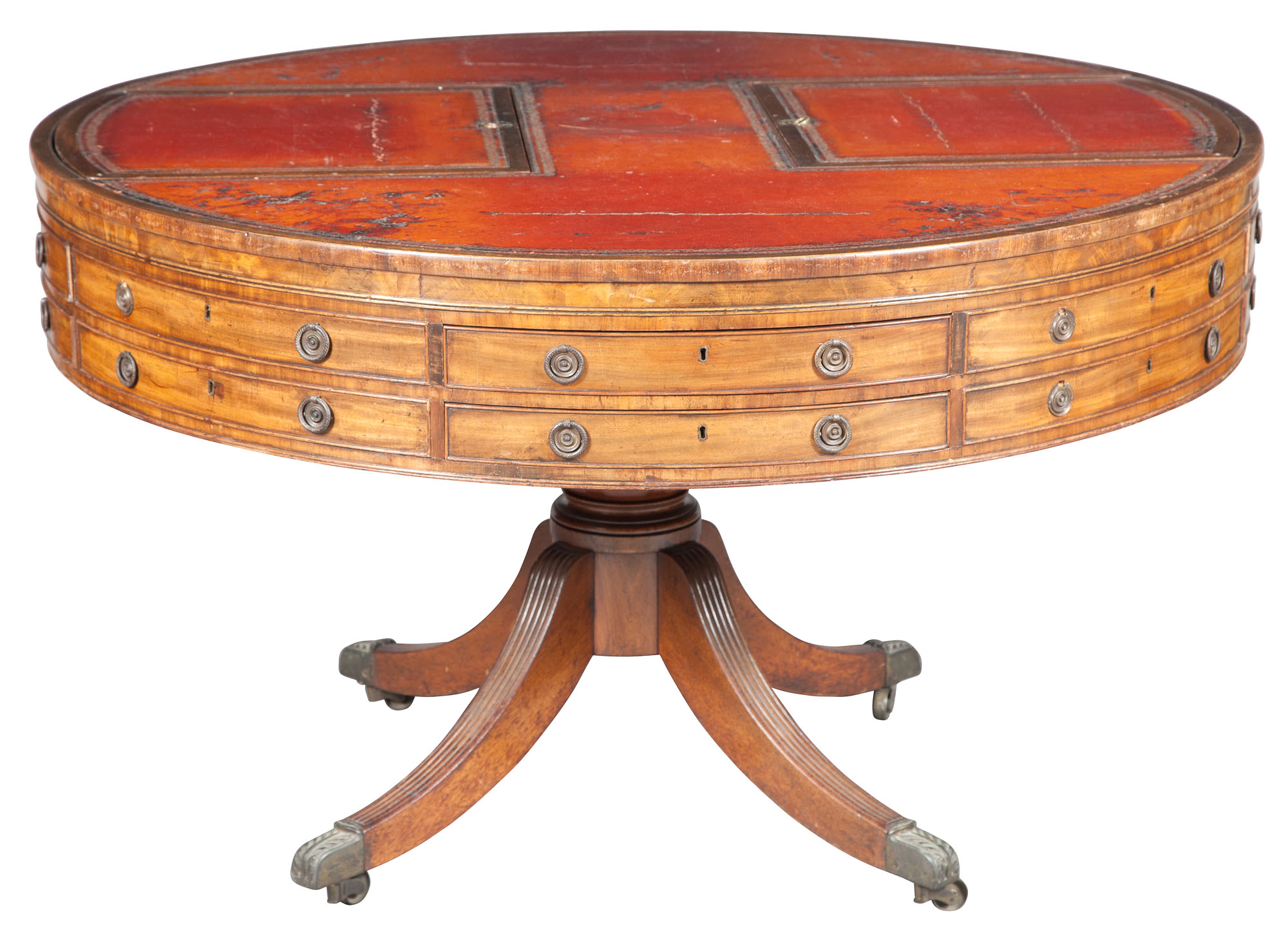 Lot image - George III Style Mahogany Library Table