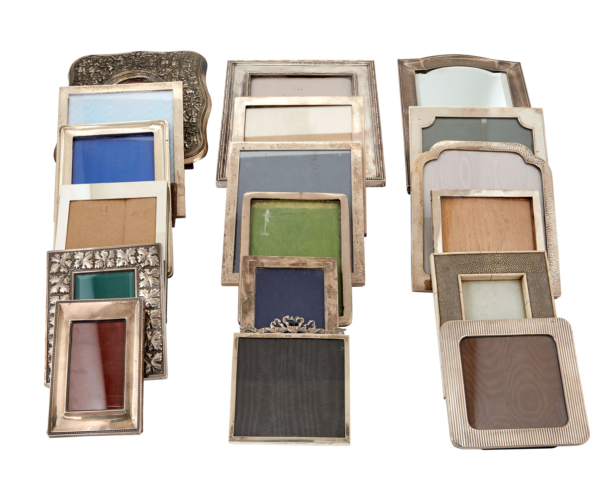 Lot image - Group of Fourteen English, Continental and American Silver Photograph Frames