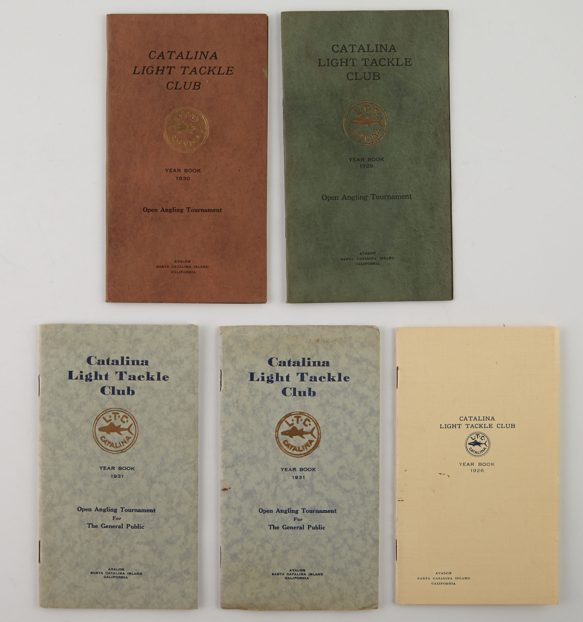 Lot image - [ANGLING CLUB]  CATALINA LIGHT TACKLE CLUB  Five pamphlets.