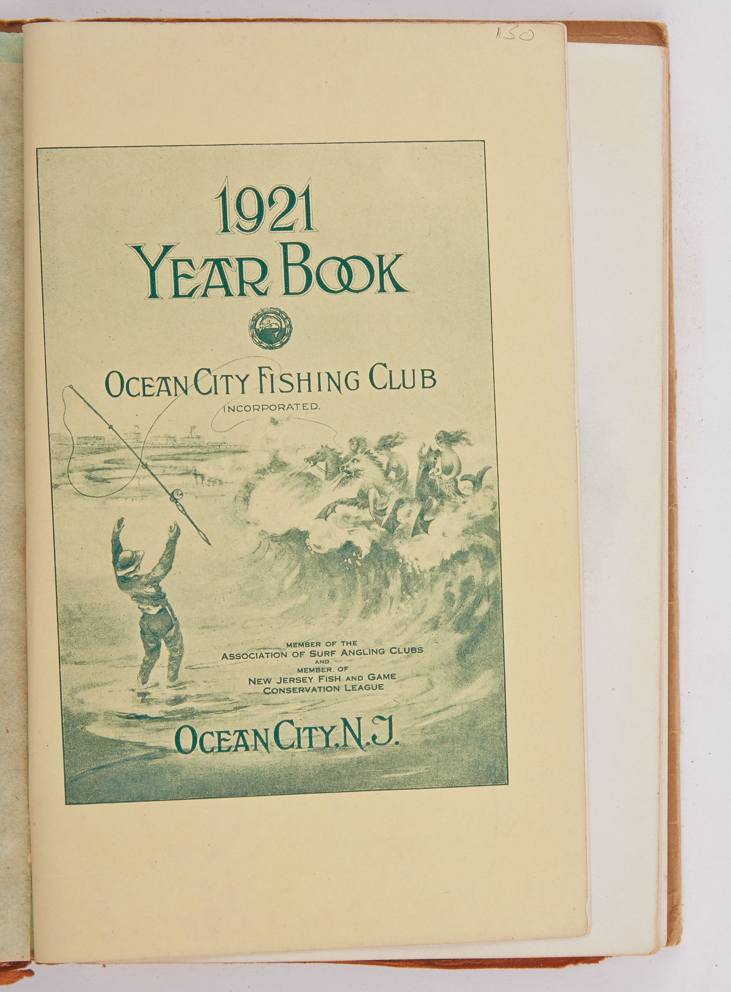 Lot image - [ANGLING CLUB]  1921 Year Book. Ocean City Fishing Club.
