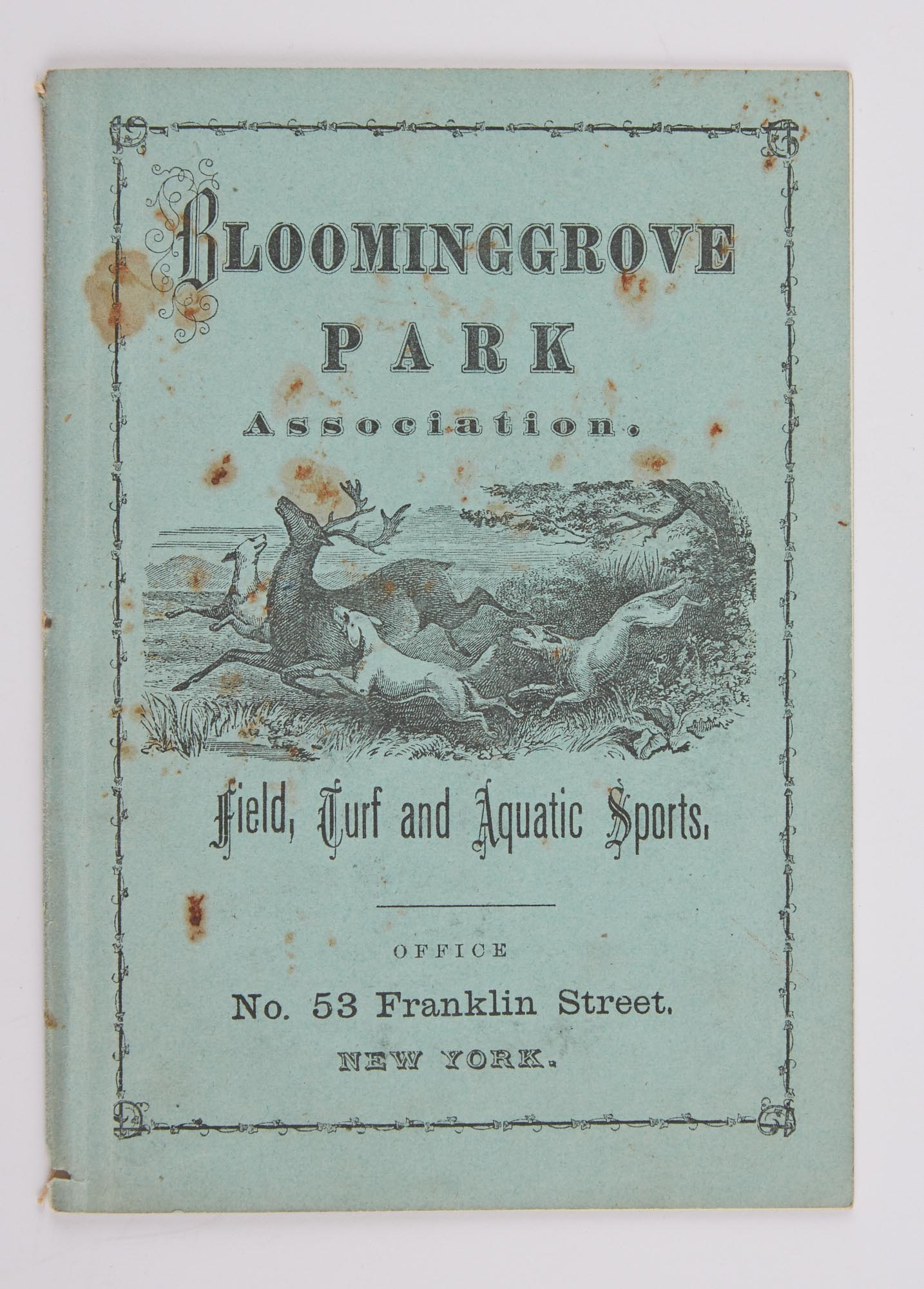 Lot image - [ANGLING CLUB]  Bloominggrove Park Association. Field, Turf and Aquatic Sports.
