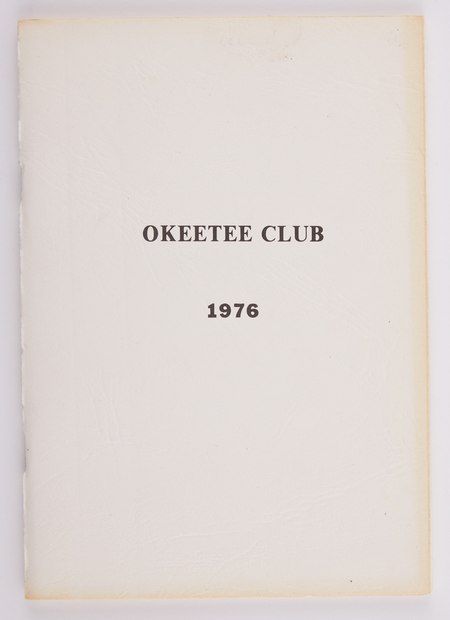 Lot image - [ANGLING CLUB]  Articles of Incorporation, By-Laws, Rules and Regulations, Officers and Members of the Okeetee Club.