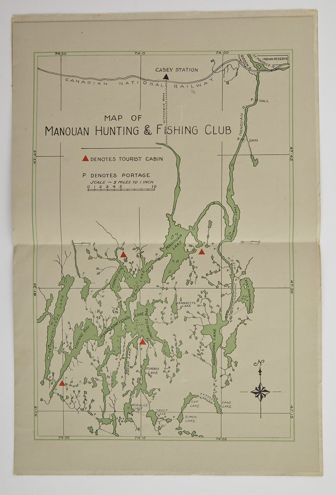 Lot image - [ANGLING CLUB]  Manouan Hunting and Fishing Club Inc. Northern Quebec.