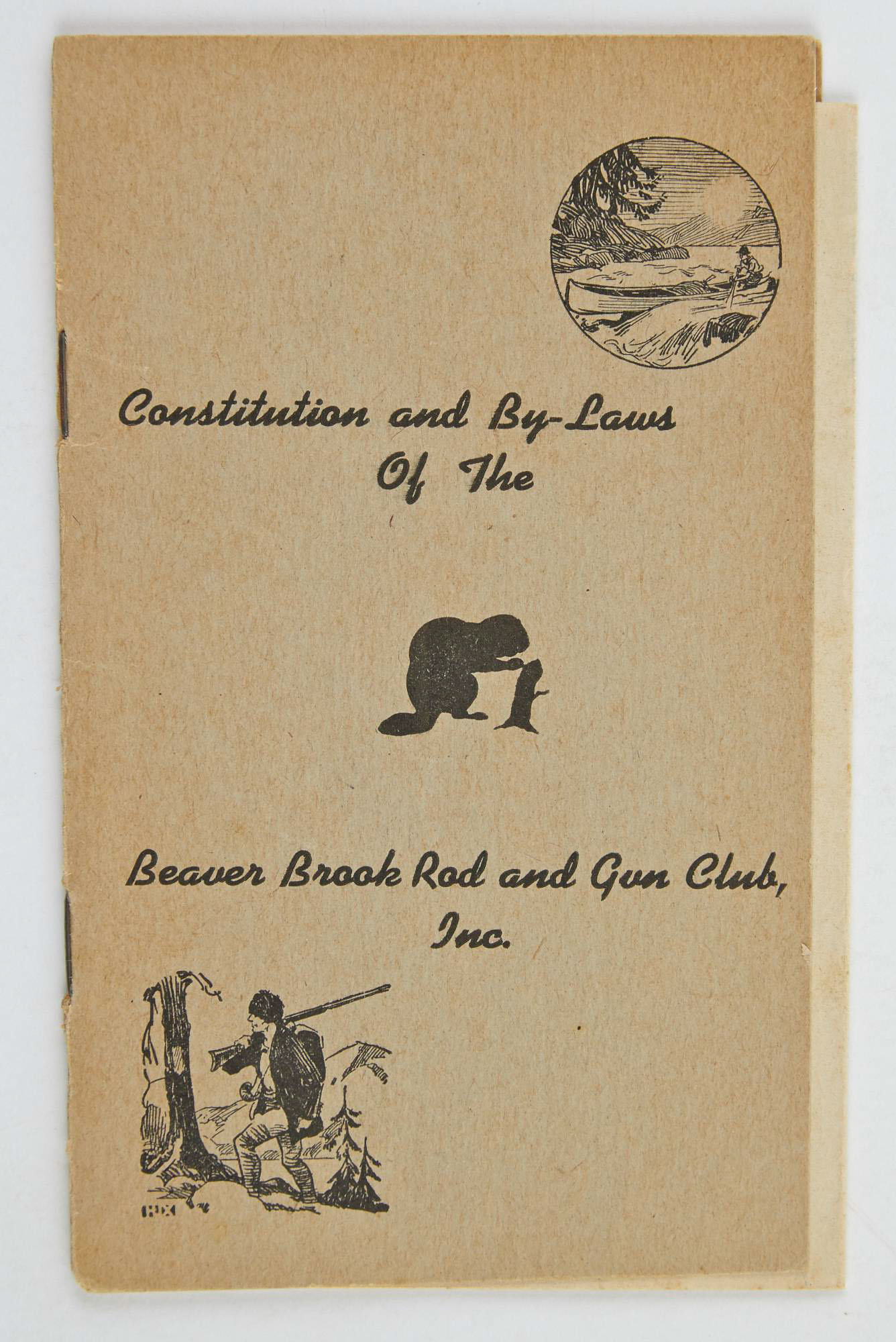 Lot image - [ANGLING CLUB]  Constitution and By-Laws of the Beaver Brook Rod and Gun Club, Inc.