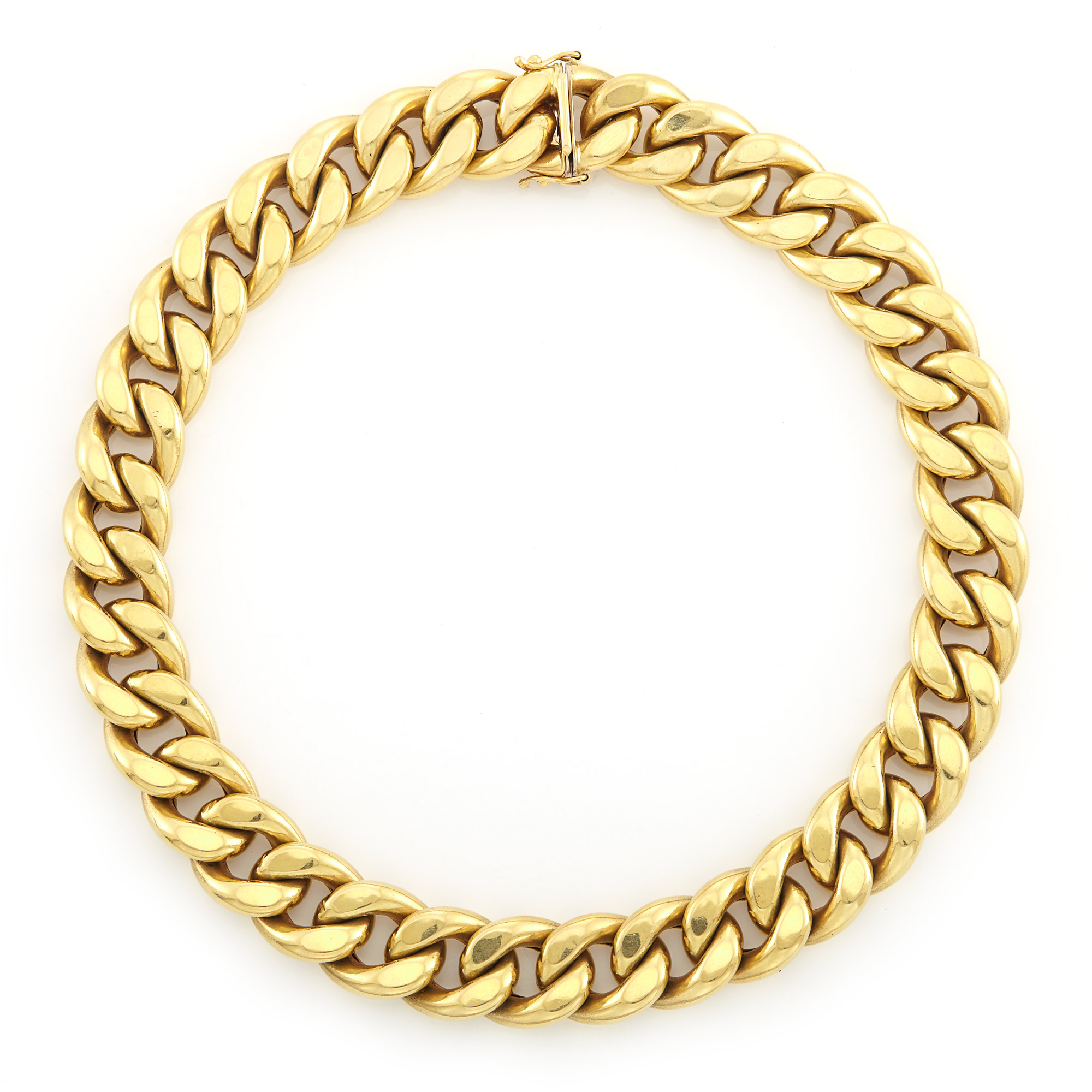 Lot image - Gold Curb Link Necklace