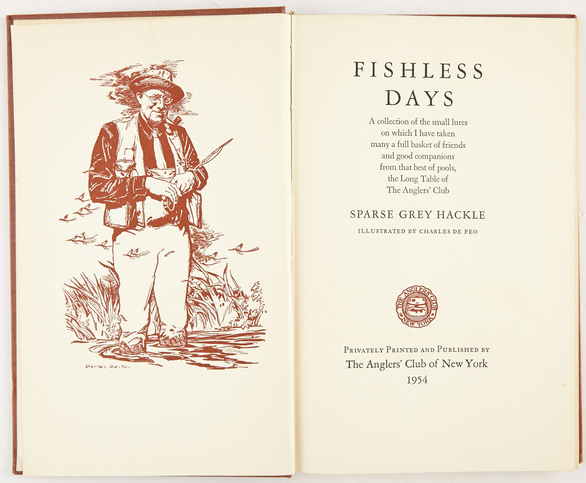 Lot image - [ANGLERS CLUB OF NEW YORK]  Three titles published by the Anglers Club.