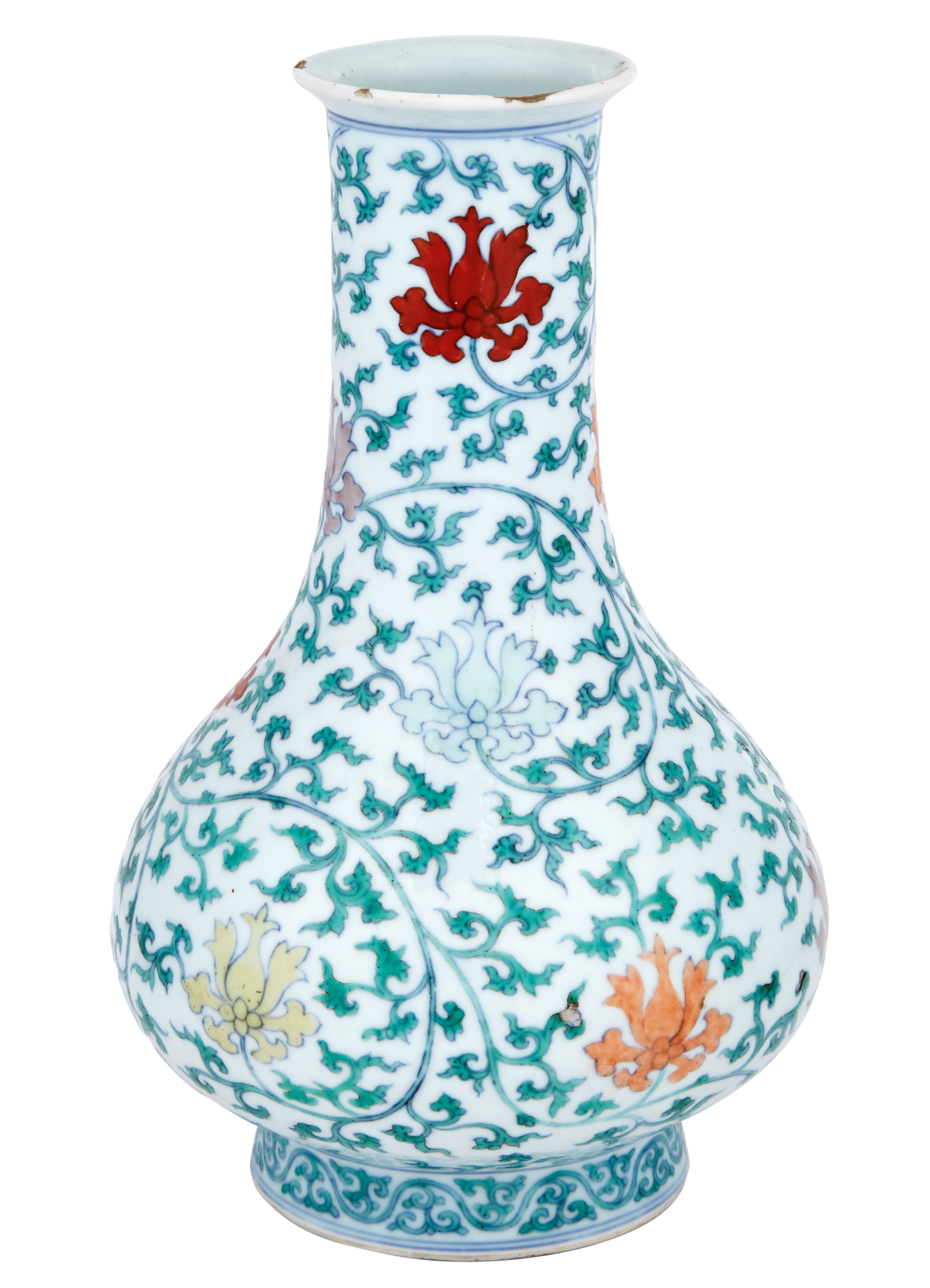 Lot image - Chinese Enameled Porcelain Vase