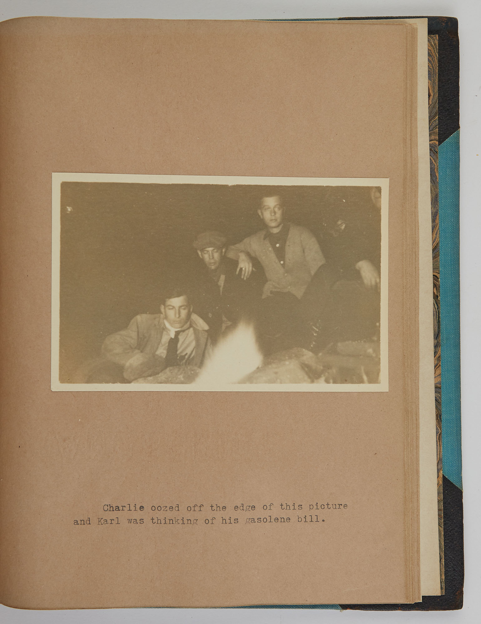 Lot image - [CONNECTICUT CAMPING TYPESCRIPT]  Karl C. Kulle His Camping Trip, 1916 [Spine title].