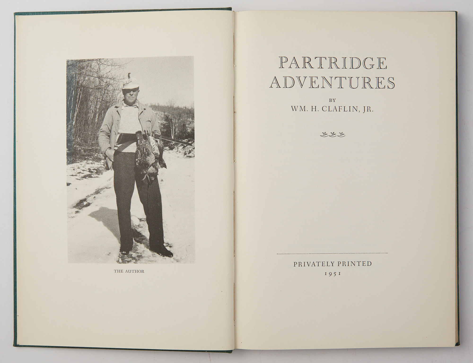Lot image - CLAFLIN, WM. H., Jr.  Partridge Adventures.
