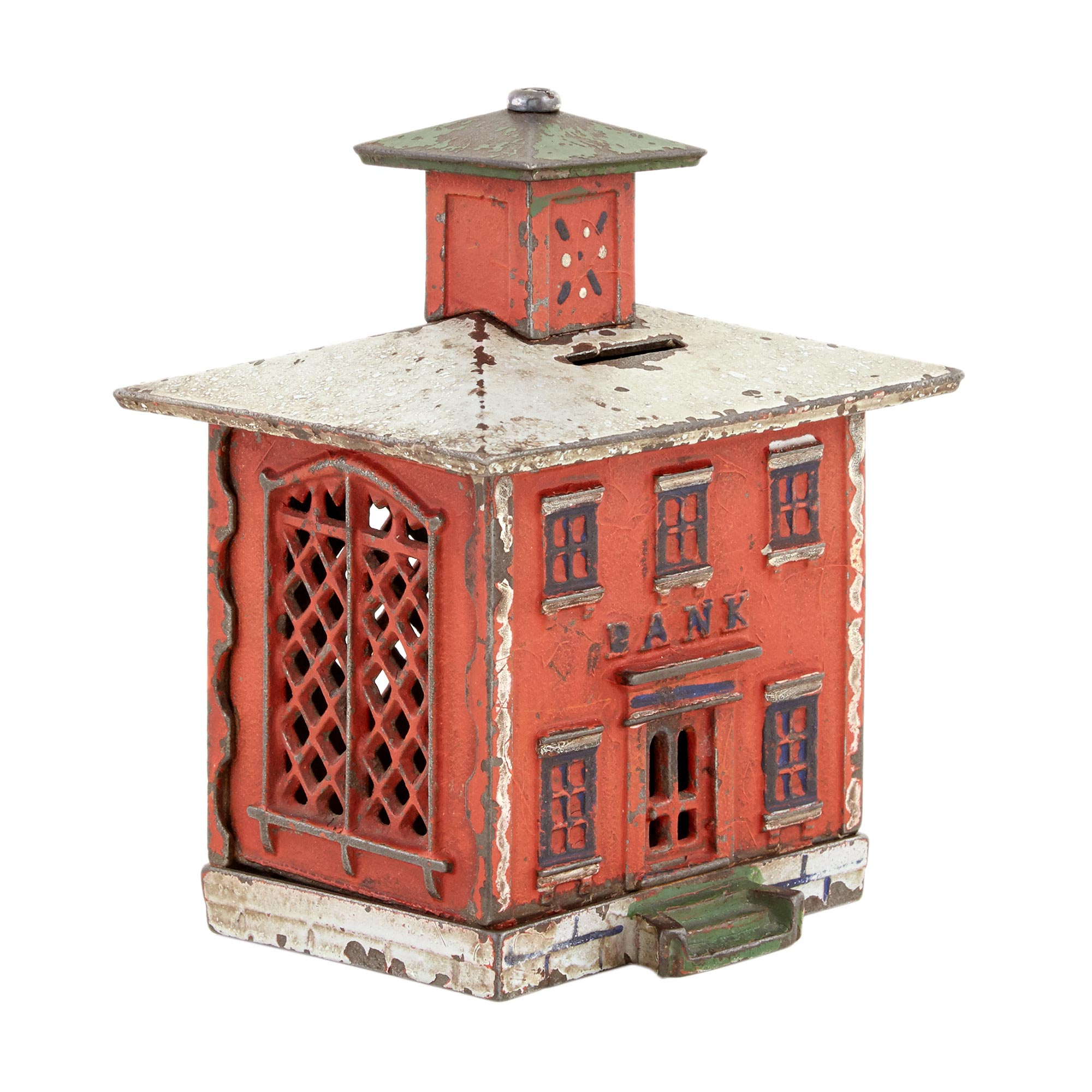 Lot image - Large Cupola Bank Building in Red