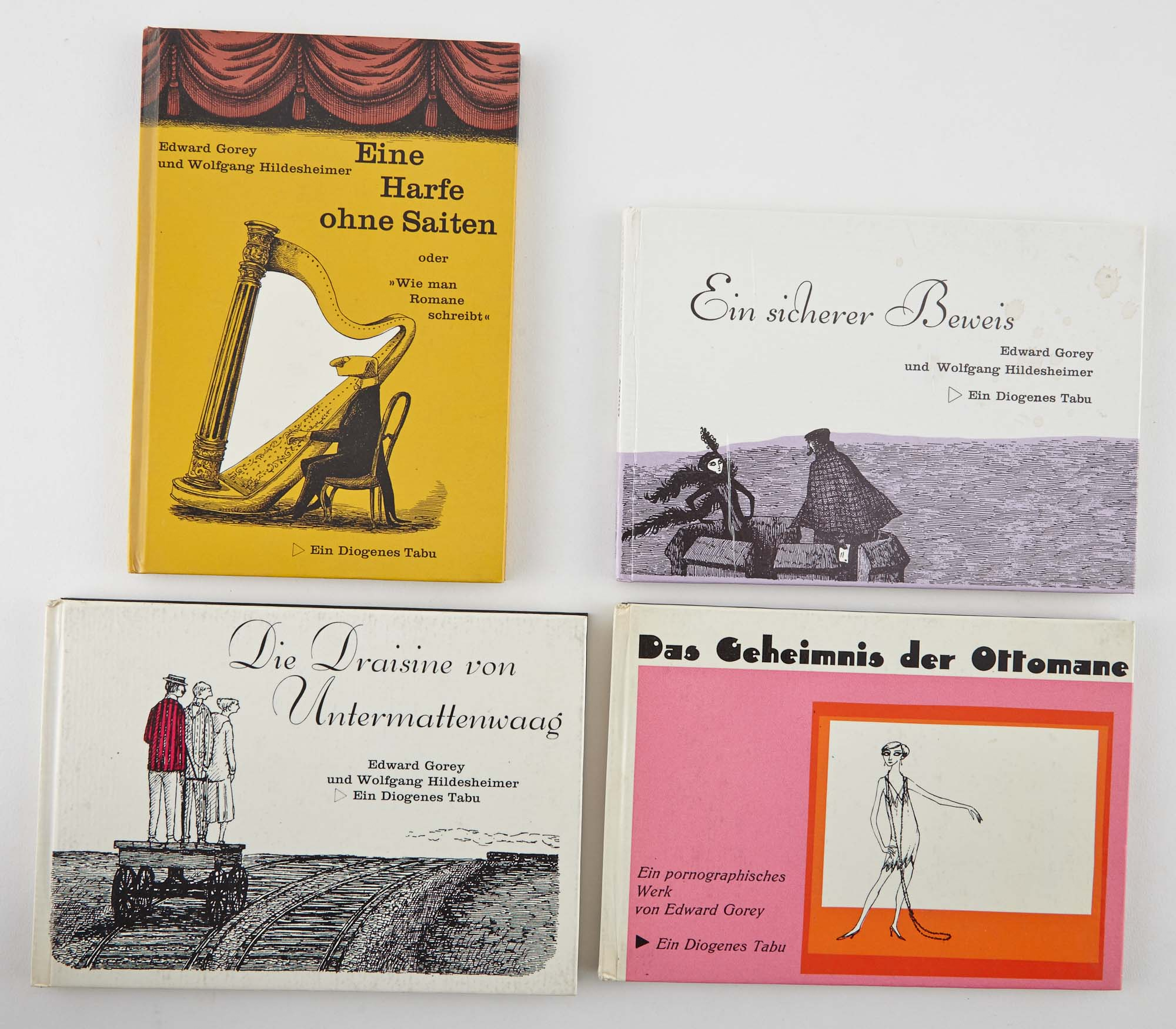 Lot image - GOREY, EDWARD  Group of four Diogenes Verlag editions of works illustrated by Gorey.