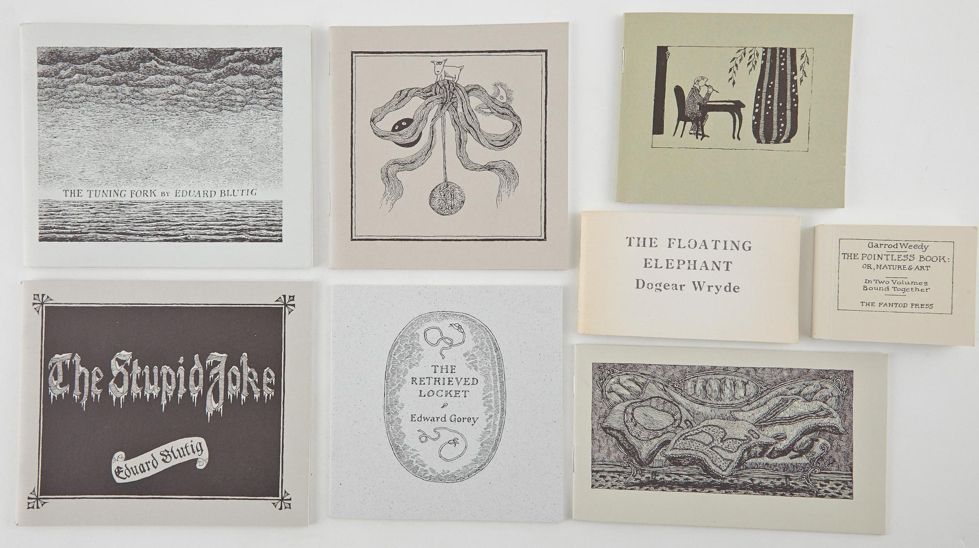 Lot image - GOREY, EDWARD  Group of eight titles by Edward Gorey, issued in signed limited editions