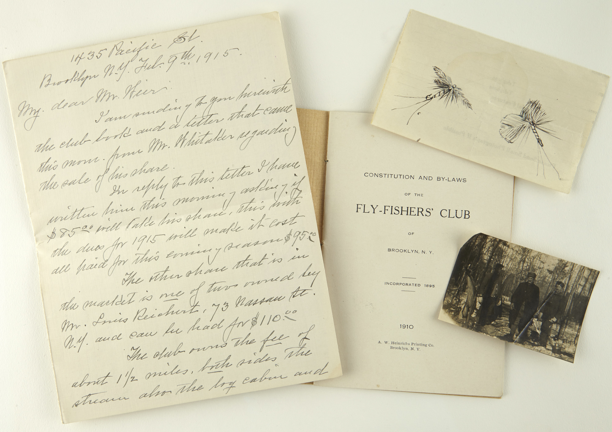 Lot image - [ANGLING]  Constitution and Bye-Laws of The Fly-Fishers Club of Brooklyn. N.Y.
