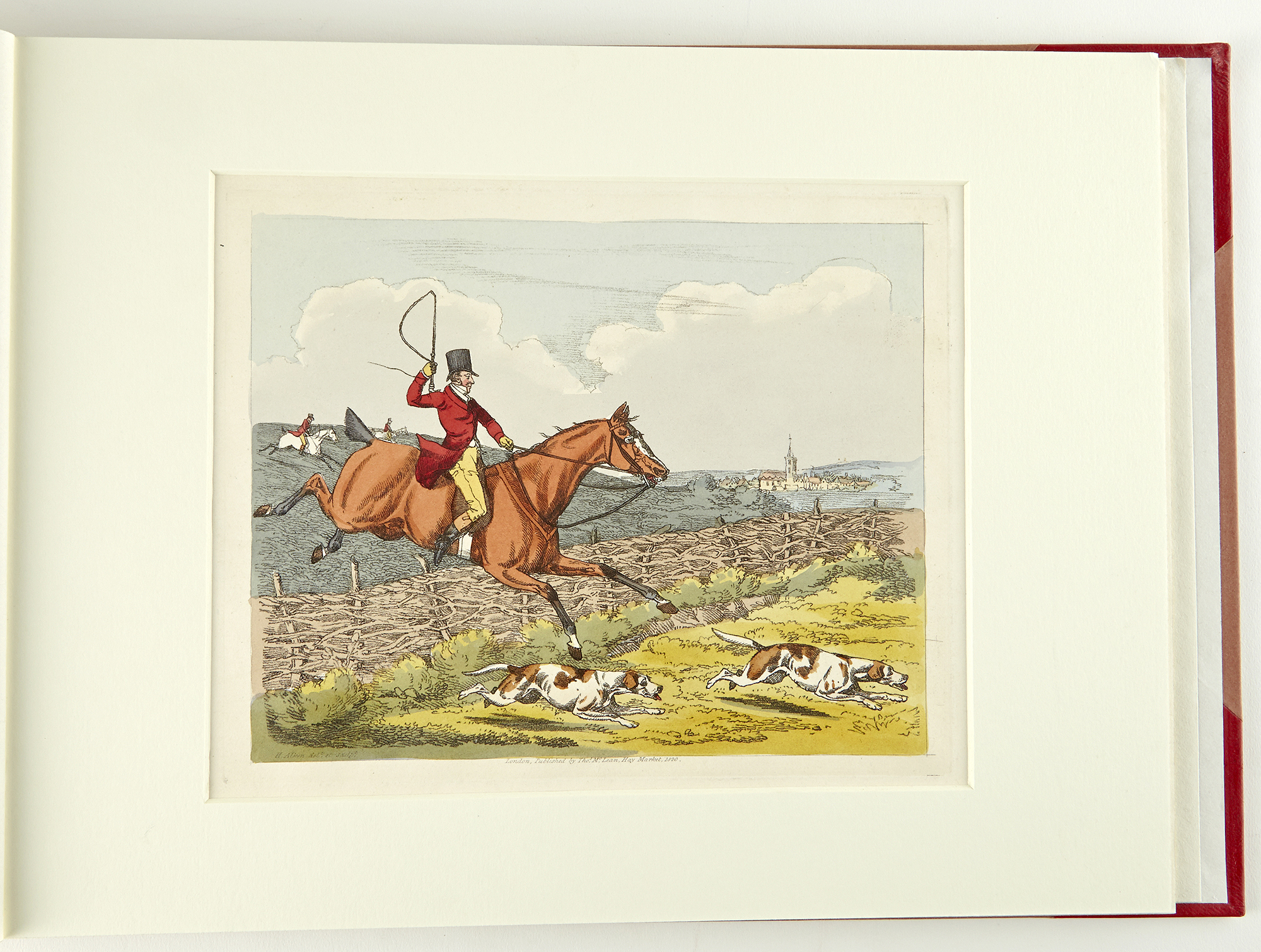 Lot image - [ALKEN, HENRY]  [A Set of Six Plates on Fox Hunting]--cover title.
