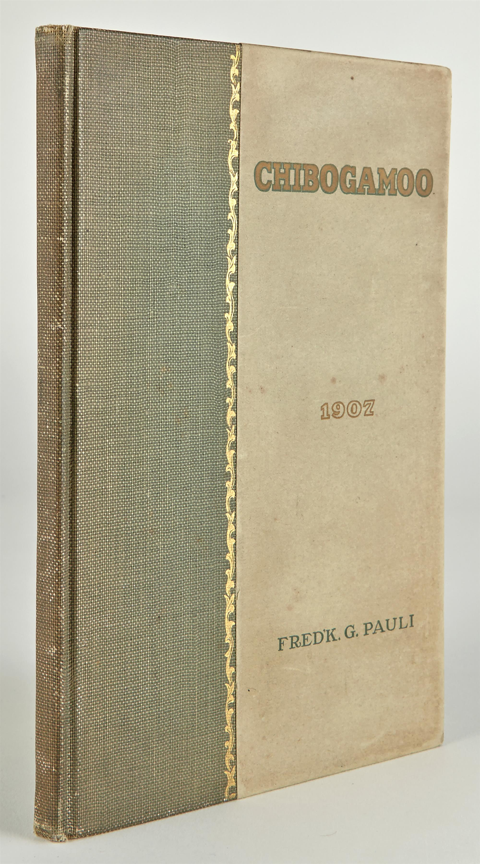 Lot image - [CANADA-FISHING]  PAULI, FREDERICK G. A Record of a Trip through Canadas Wilderness to Lake Chibogamoo and to the Great Lake Mistassini in the Summer of 1906.