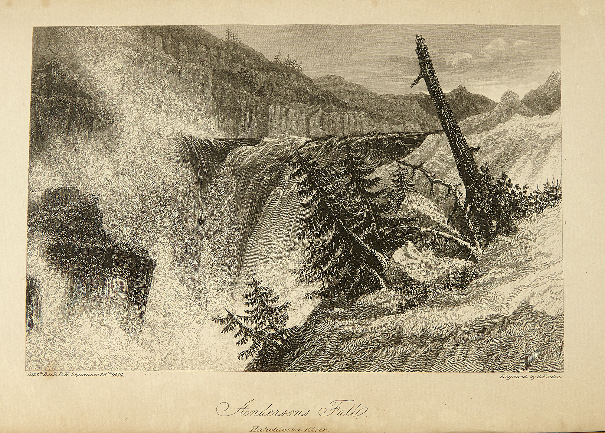 Lot image - [ARCTIC]  BACK, GEORGE, Sir. Narrative of the Arctic Land Expedition to the mouth of the Great Fish River, and along the shores of the Arctic Ocean, in the years 1833.