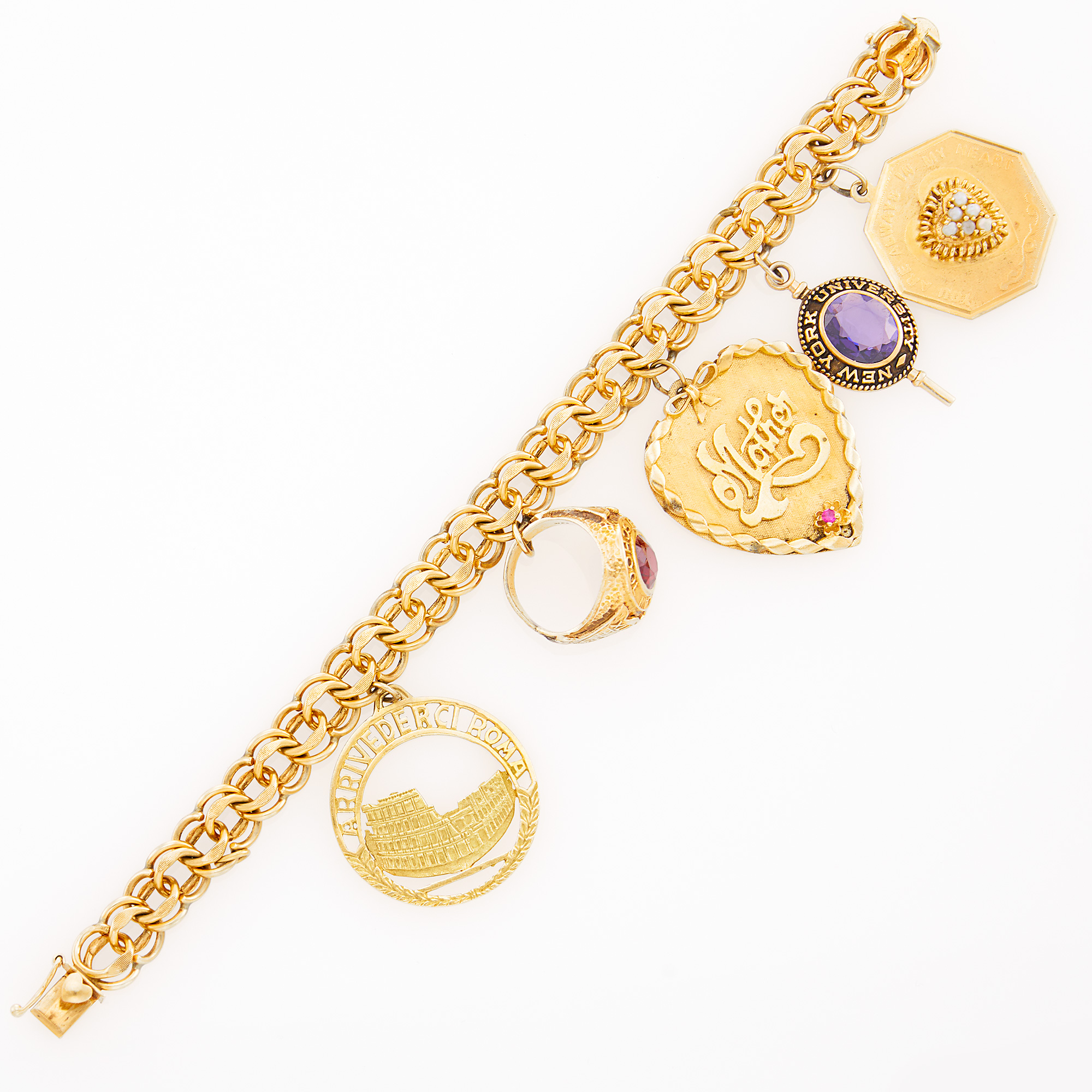 Lot image - Gold Charm Bracelet