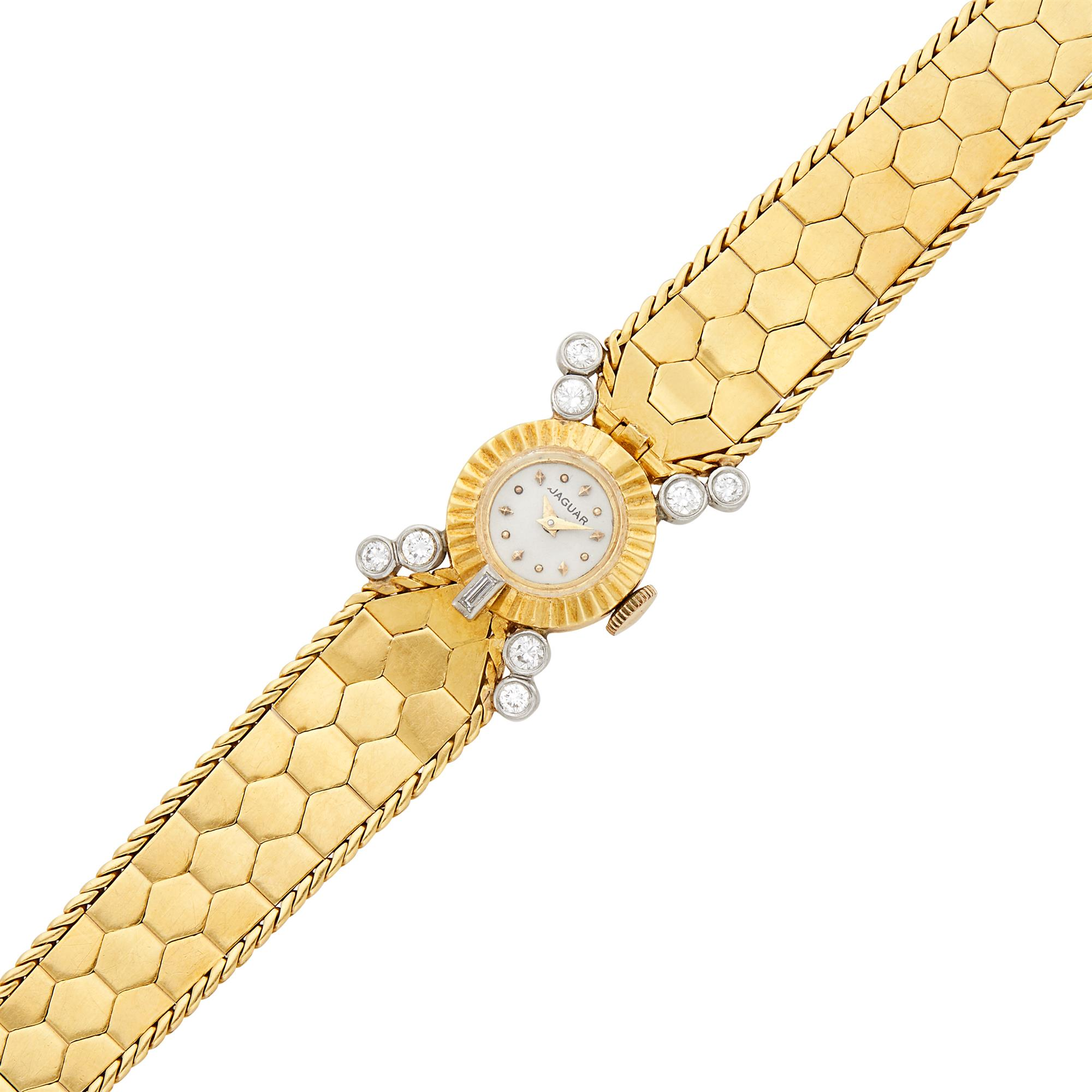 Lot image - Gold and Diamond Wristwatch