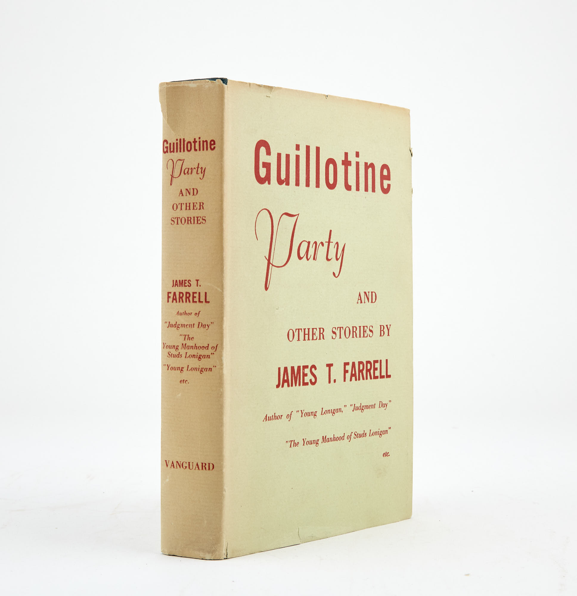 Lot image - FARRELL, JAMES T.  The Guillotine Party.