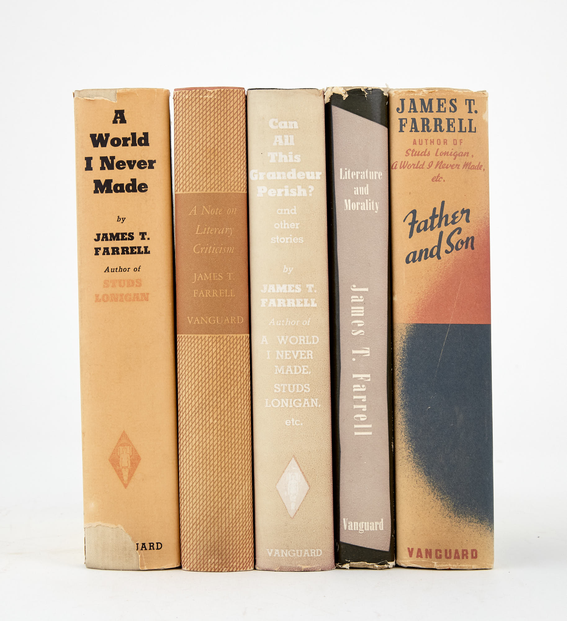 Lot image - FARRELL, JAMES T.  Group of five titles.