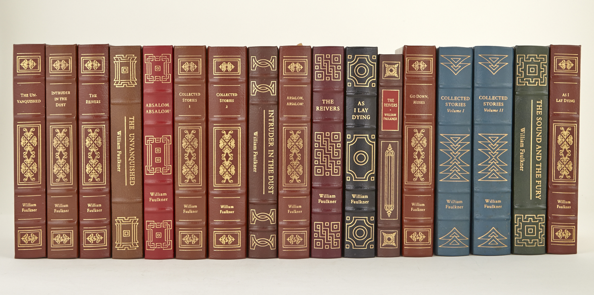 Lot image - FAULKNER, WILLIAM  Seventeen volumes published by the Easton Press.