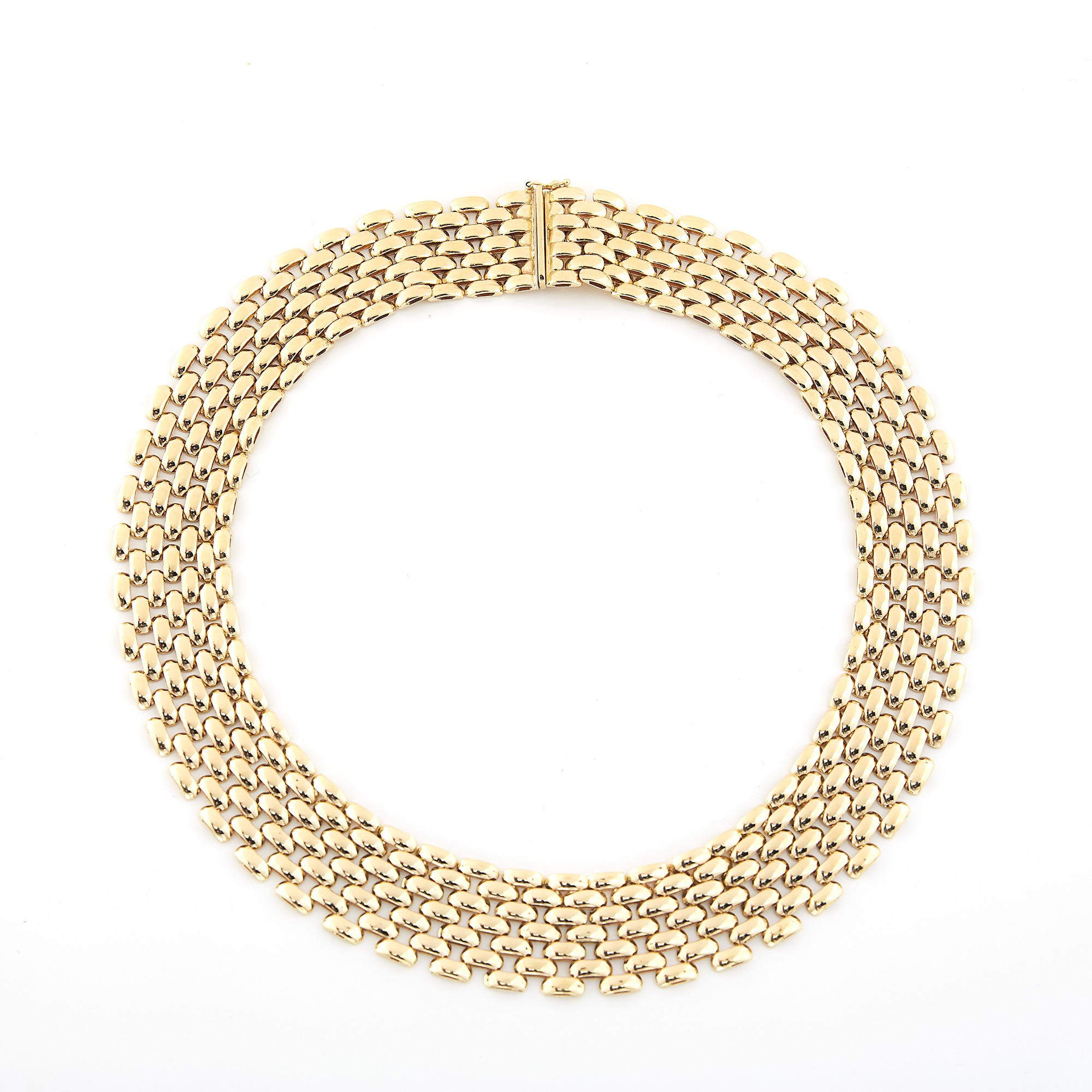 Lot image - Wide Gold Necklace