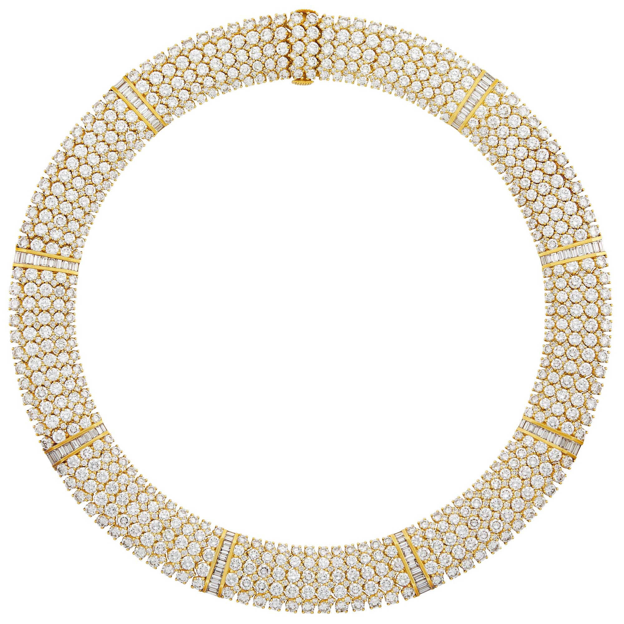 Lot image - Tiffany & Co. Gold and Diamond Necklace