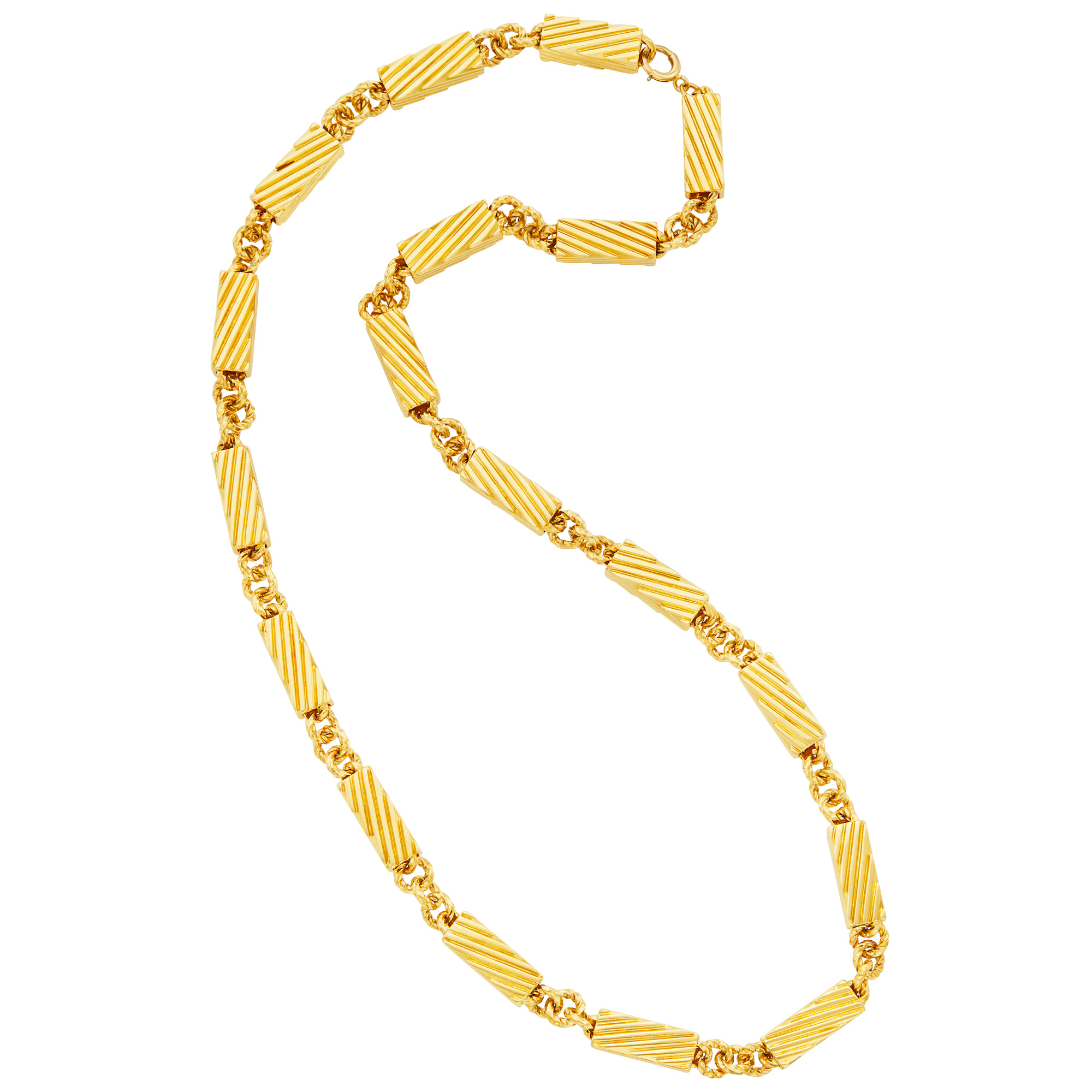 Lot image - Gold Link Chain Necklace