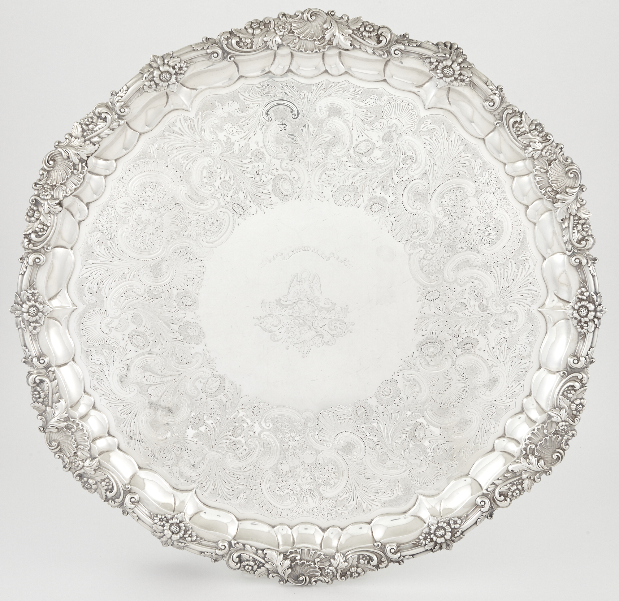 Lot image - George IV Sterling Silver Salver