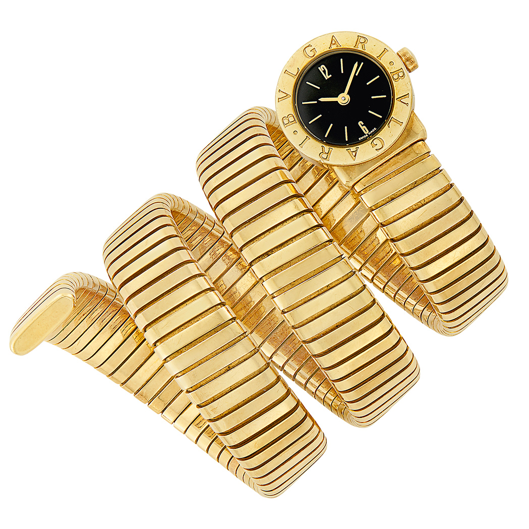 Lot image - Gold Serpenti Tubogas Wristwatch, Bulgari
