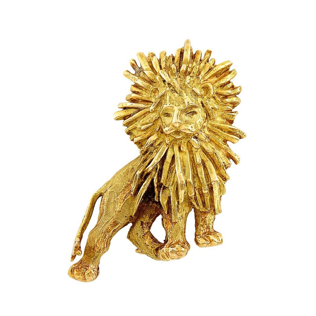 Lot image - Gold Lion Clip-Brooch, Chaumet, Paris