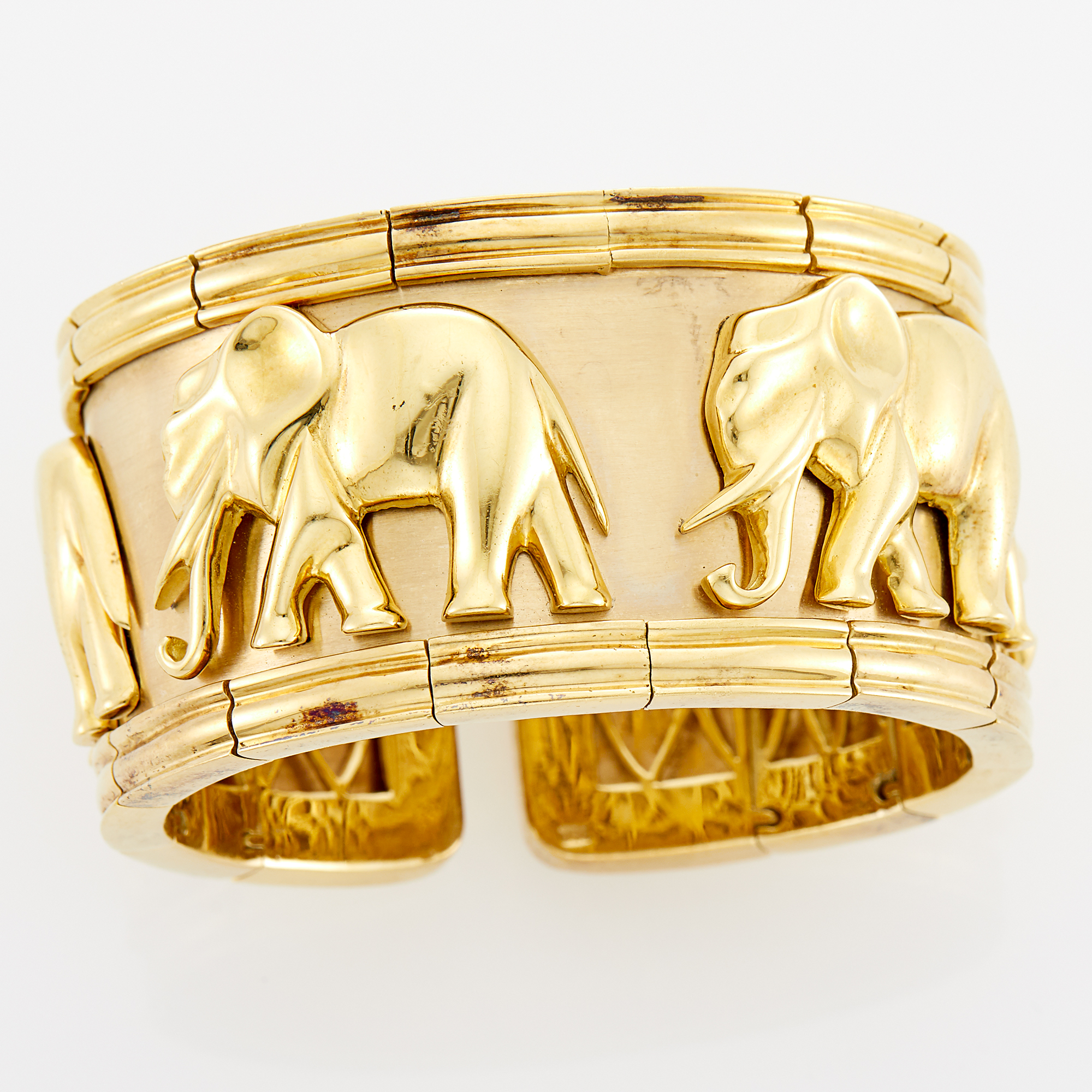 Lot image - Gold Elephant Cuff Bracelet