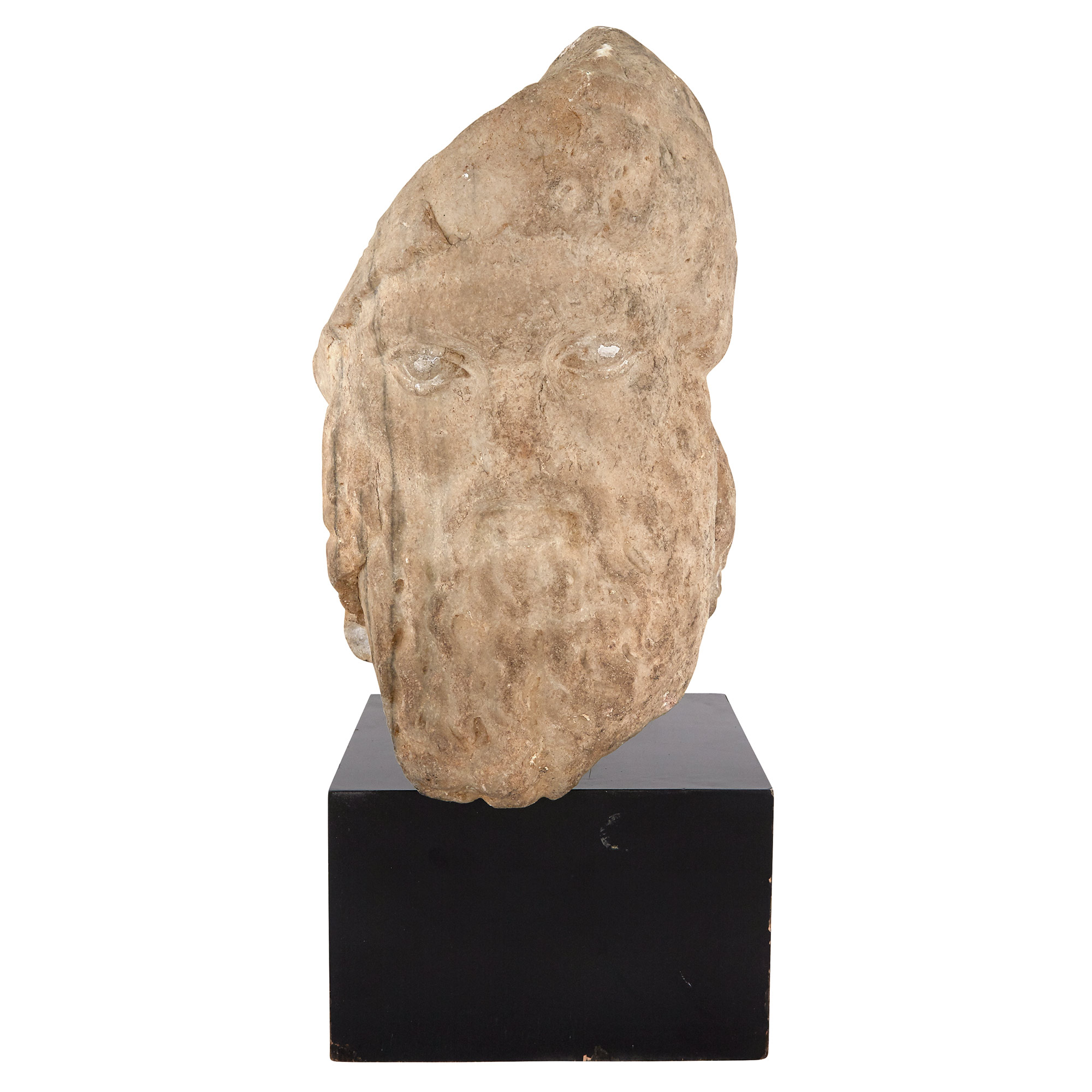 Lot image - Marble Head of Hermes
