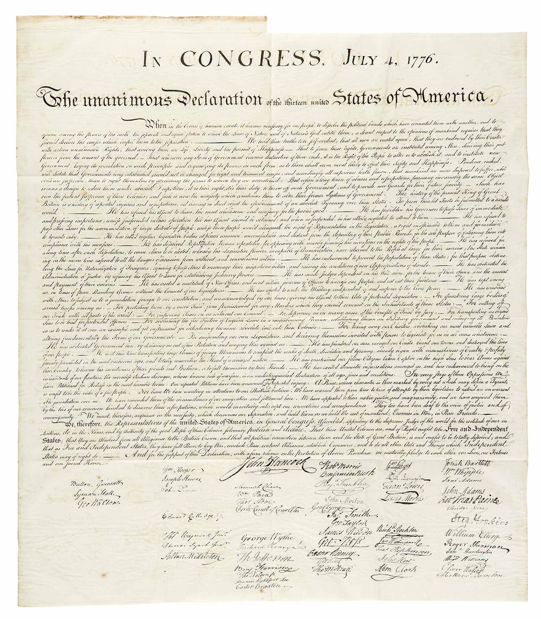 Lot image - [DECLARATION OF INDEPENDENCE]  FORCE, PETER. American Archives. Fifth Series. Volume I [-III].
