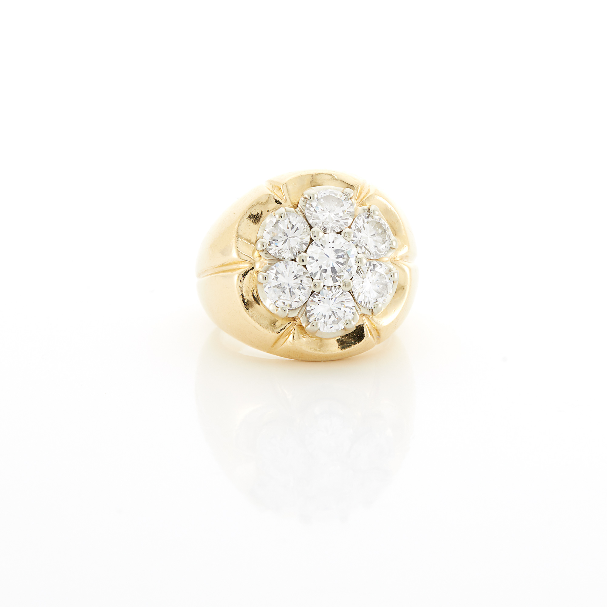 Lot image - Gold and Diamond Flower Ring