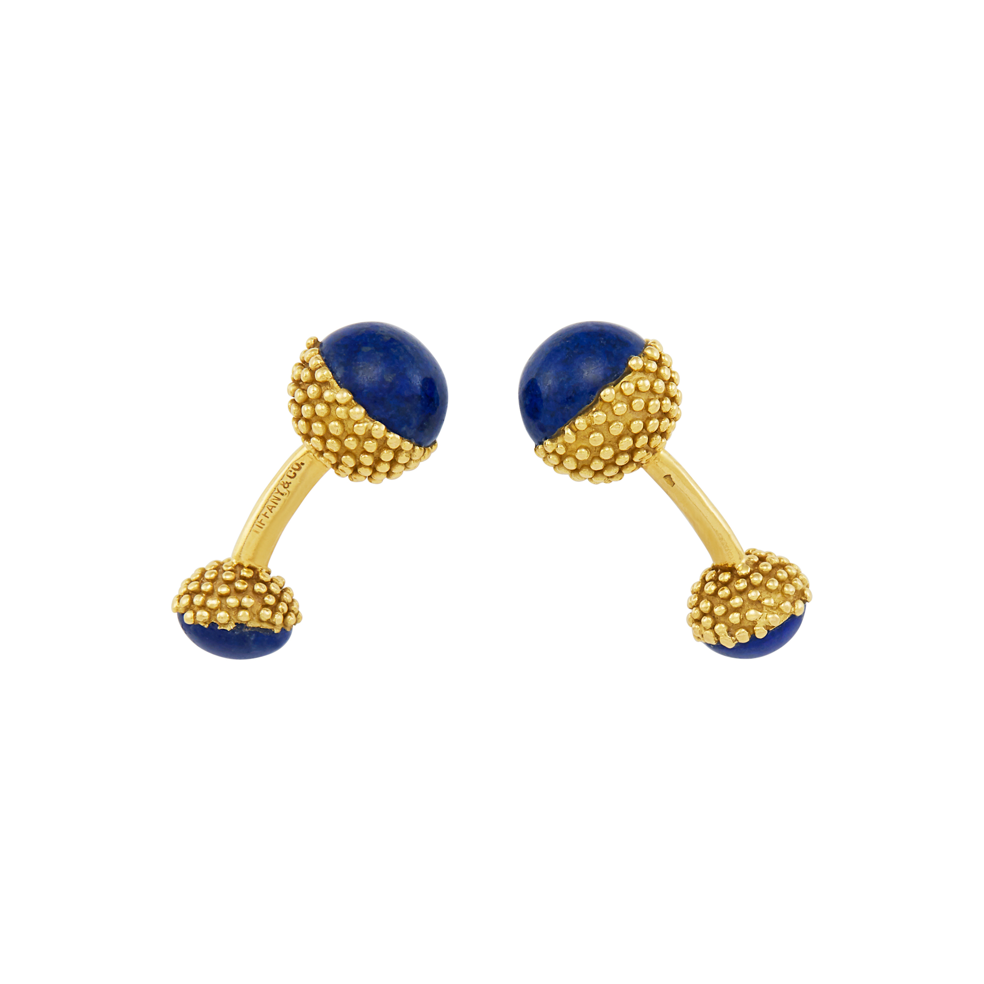 Lot image - Pair of Gold and Lapis Cufflinks, Tiffany & Co., France