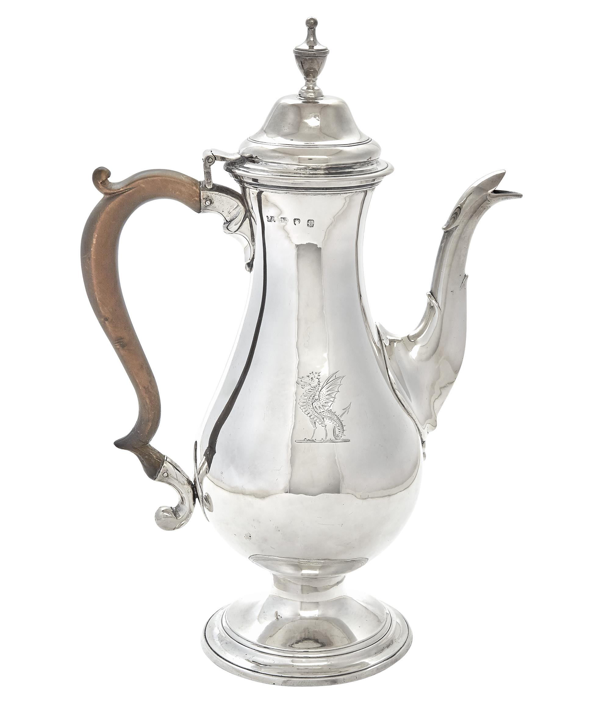 Lot image - George III Sterling Silver Coffee Pot