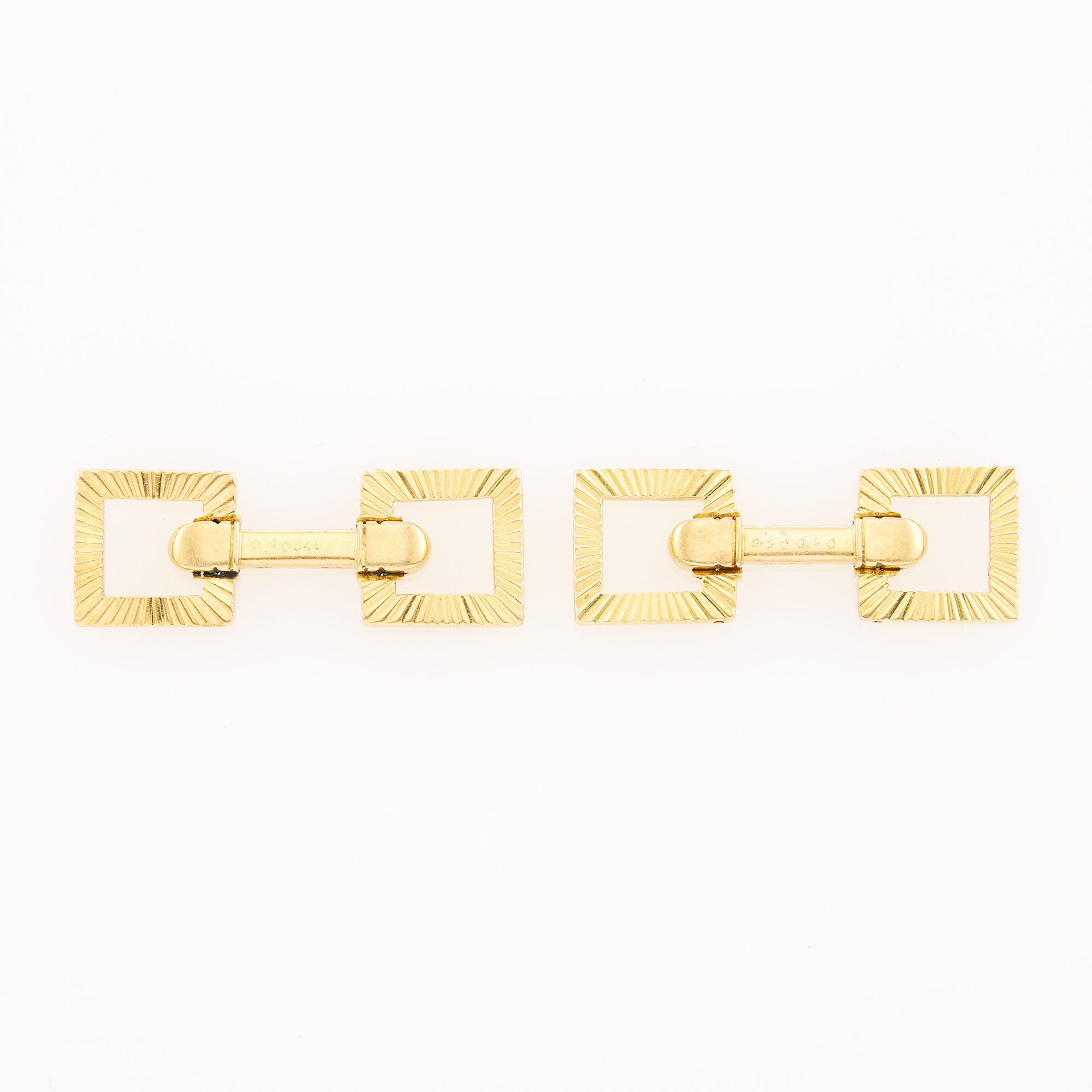 Lot image - Cartier Pair of Gold Cufflinks, France