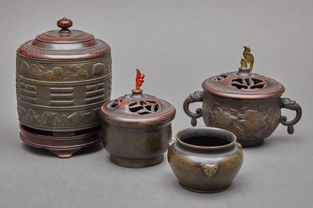 Lot image - Group of Four Chinese Bronze Censers