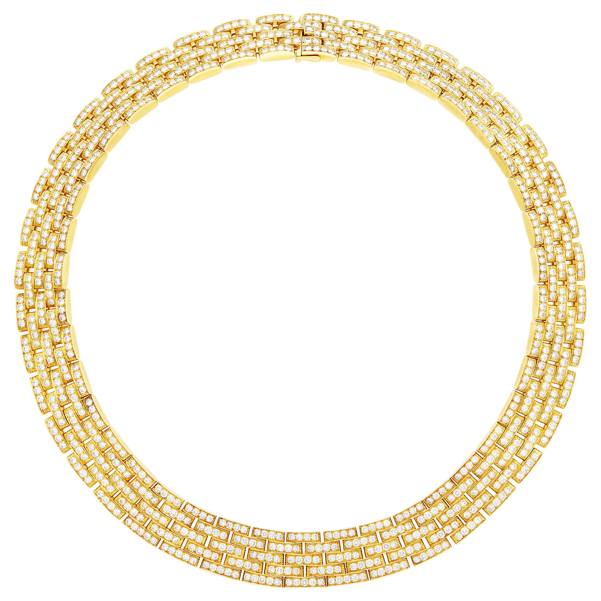Lot image - Cartier Gold and Diamond Panthère Necklace, France