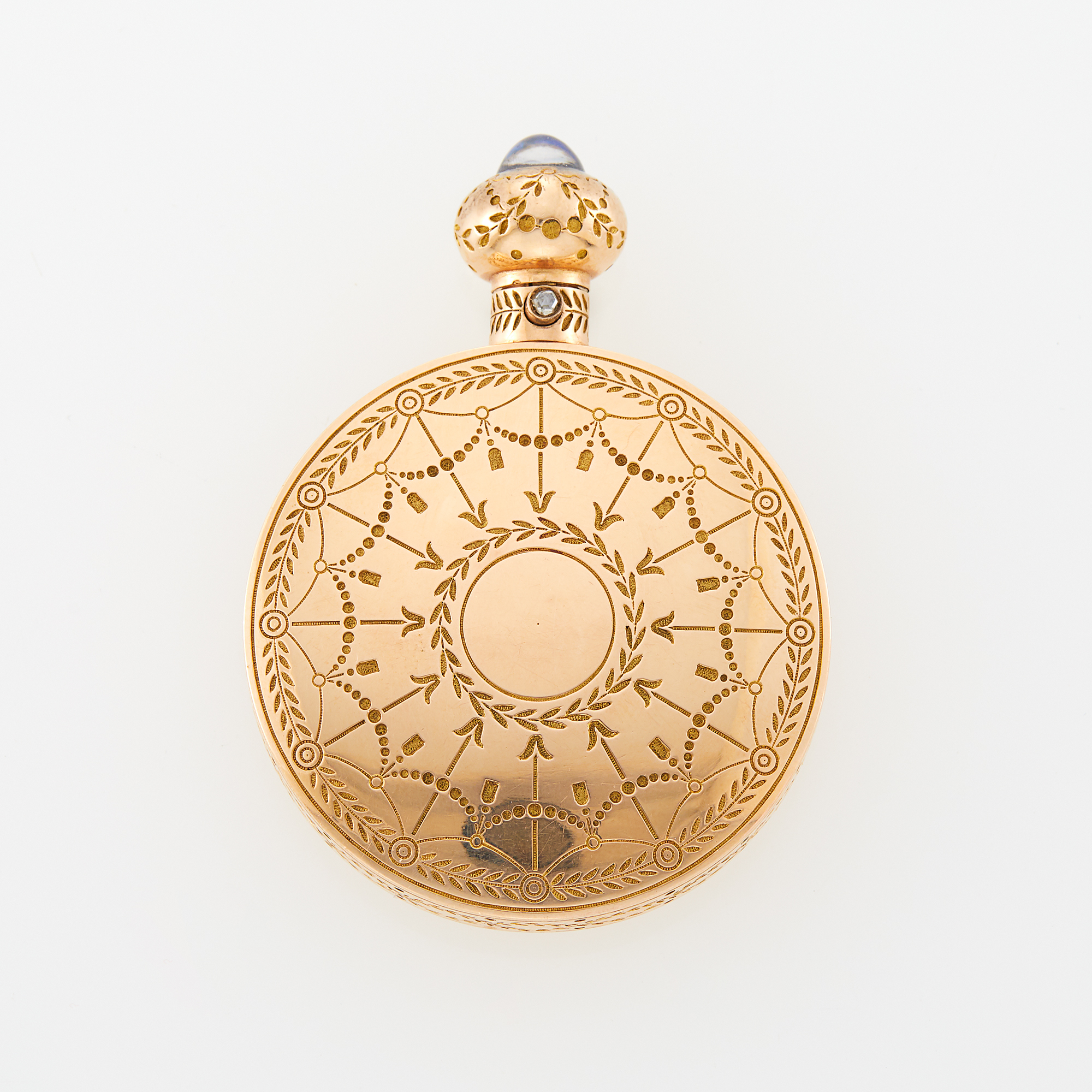 Lot image - Fabergé Gold Scent Flask