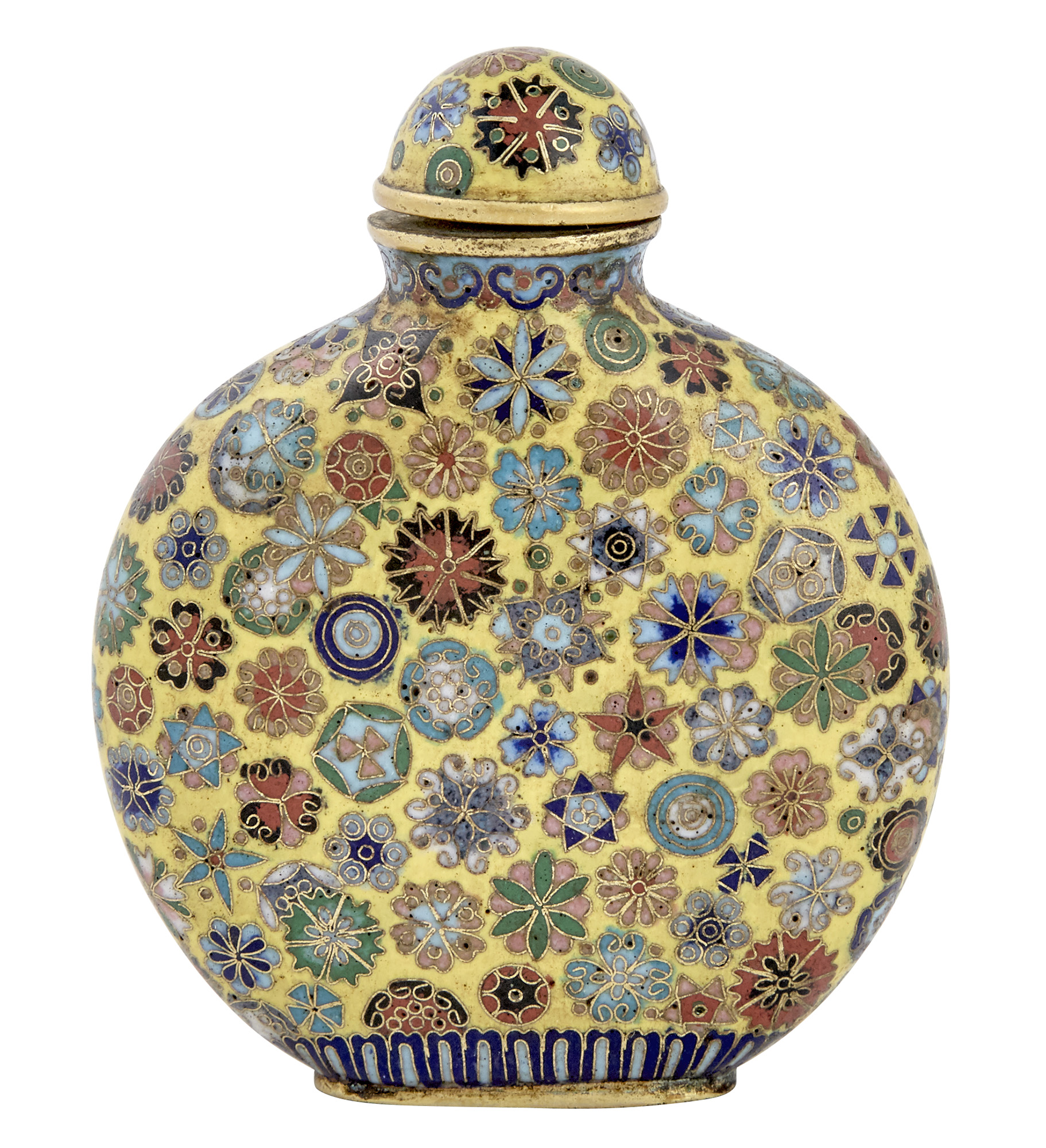 Lot image - Chinese Cloisonne Snuff Bottle
