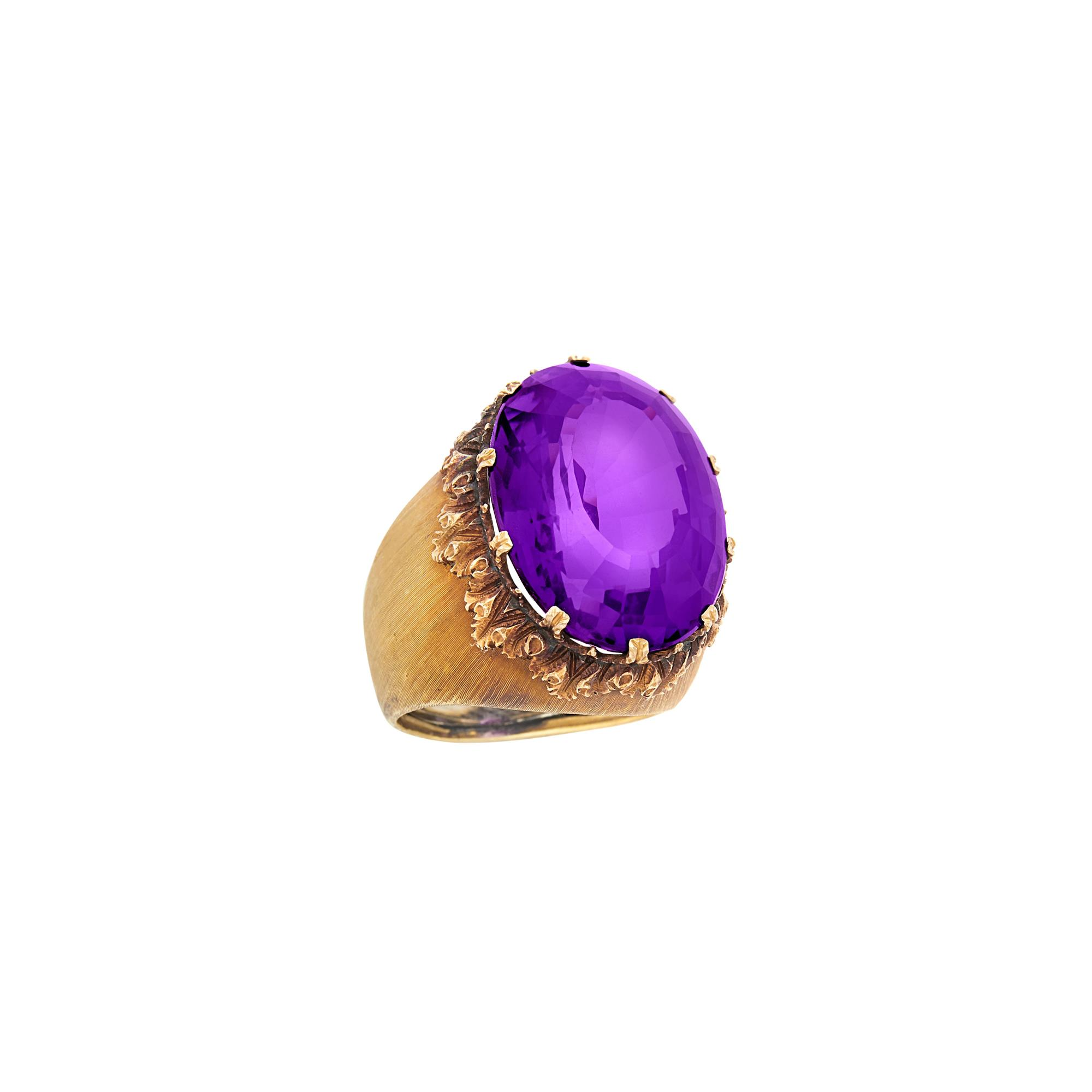 Lot image - Gold and Amethyst Ring, Buccellati