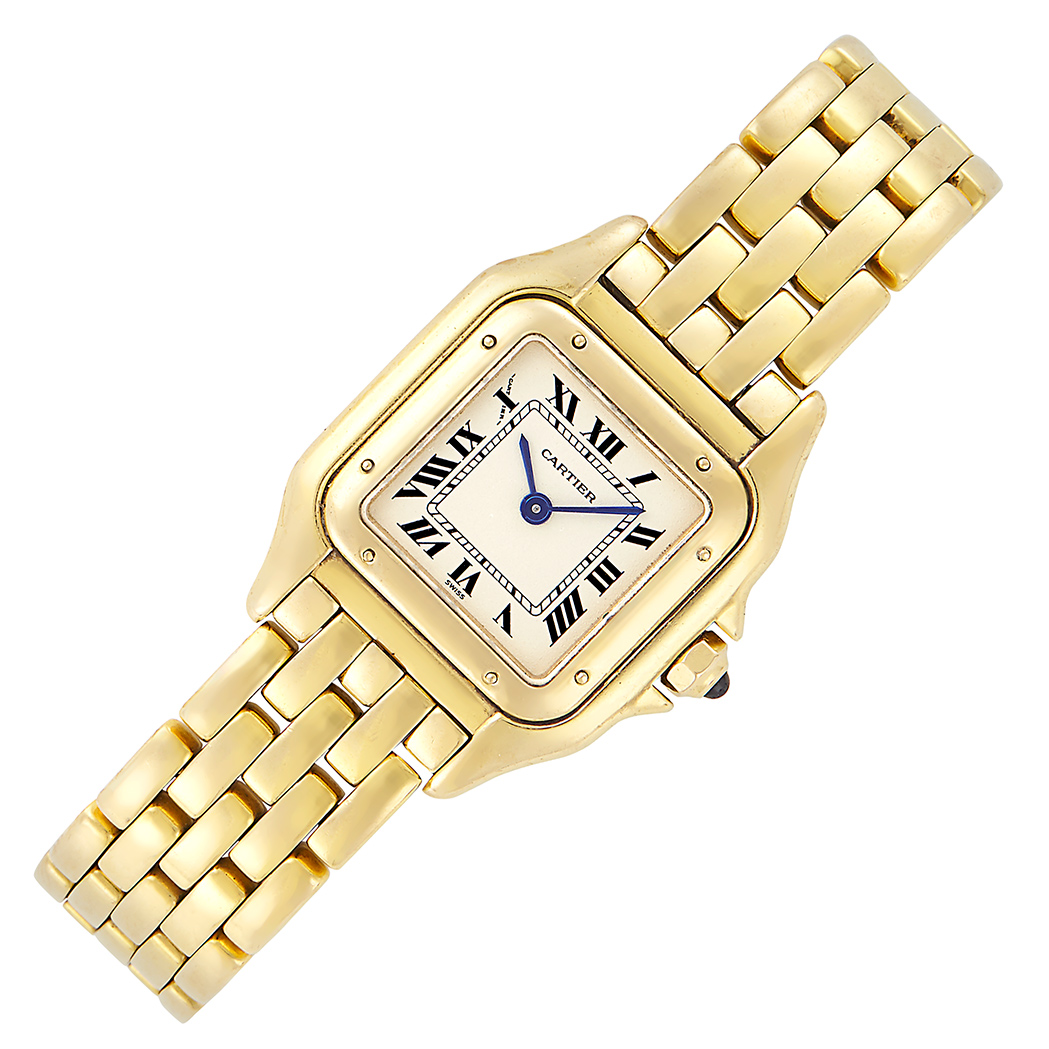 Lot image - Gold Panthere Wristwatch, Cartier